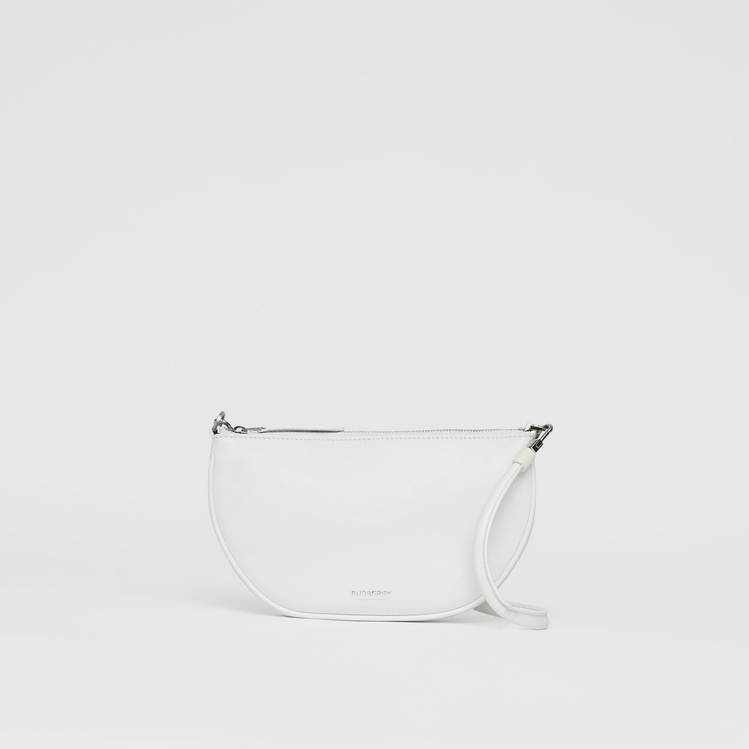 Lambskin Olympia Pouch in Optic White - Women | Burberry - 1