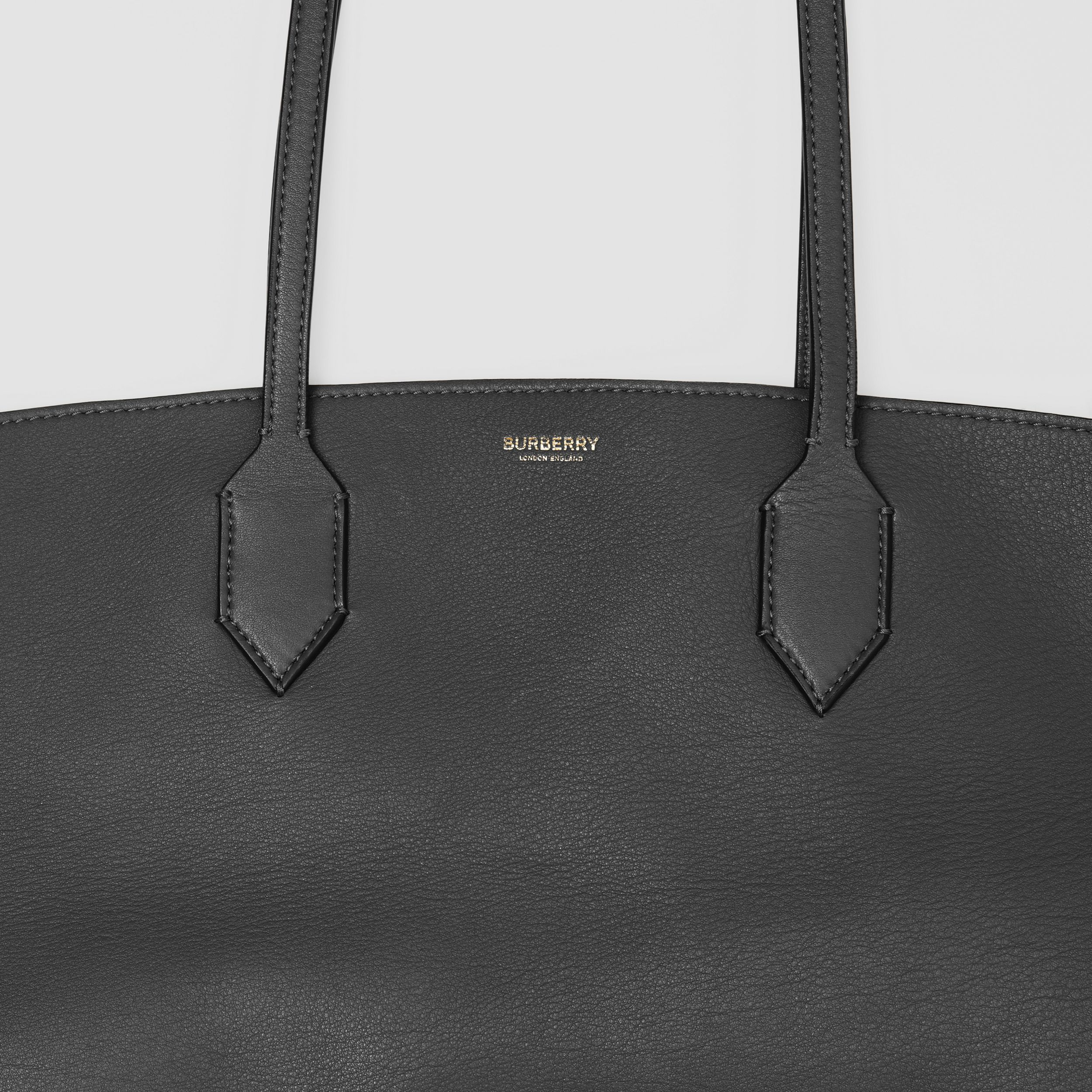Medium Leather Society Tote in Black - Women | Burberry Canada - 2