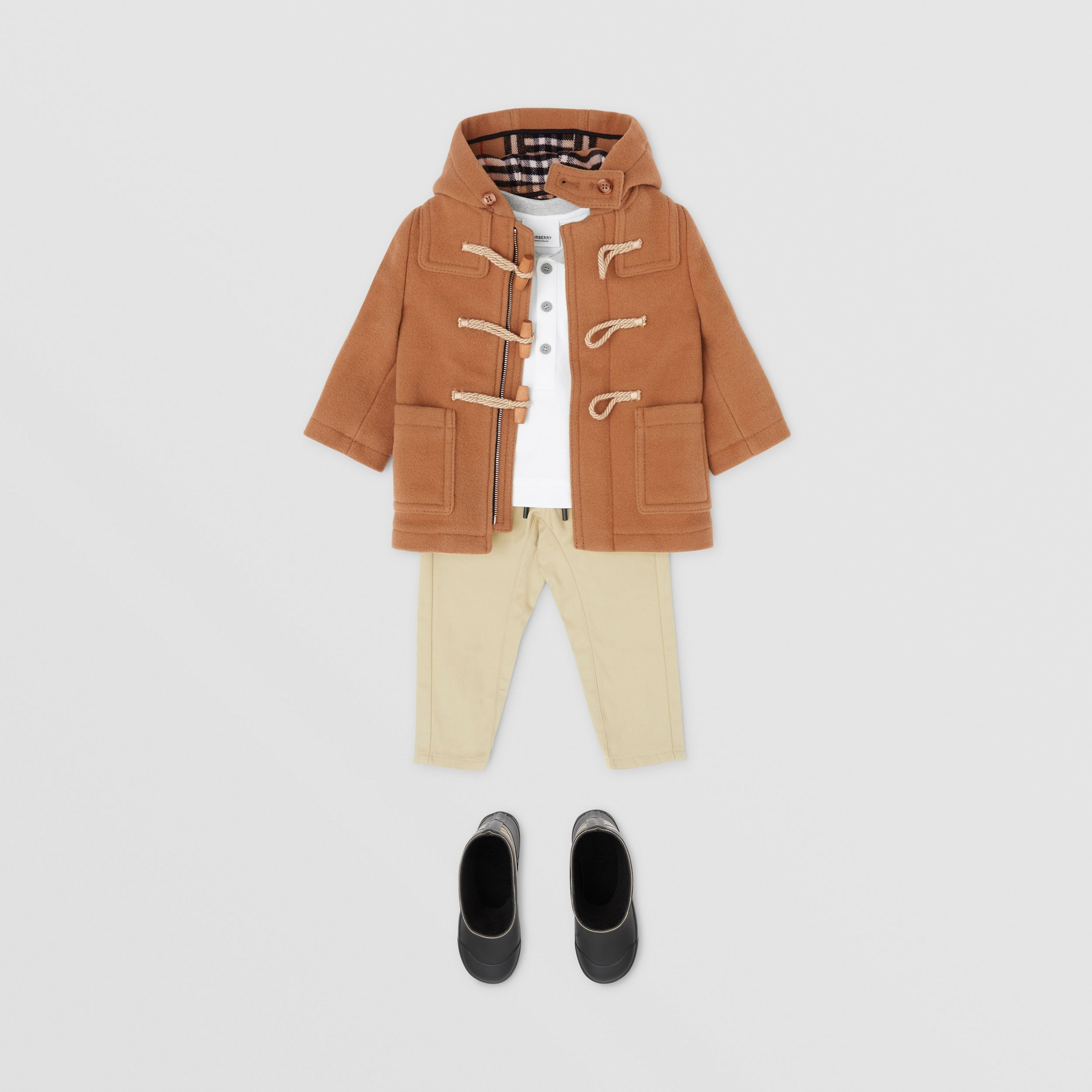 Duffle-coat en laine double face - Enfant | Burberry - 3