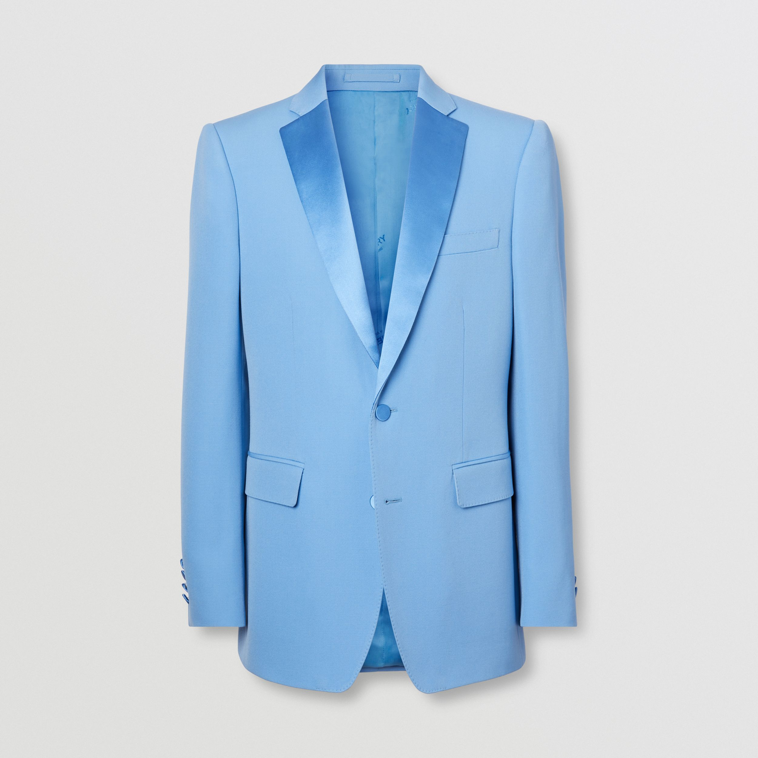 English Fit Grain De Poudre Wool Tuxedo Jacket in Vivid Cobalt - Men | Burberry - 4