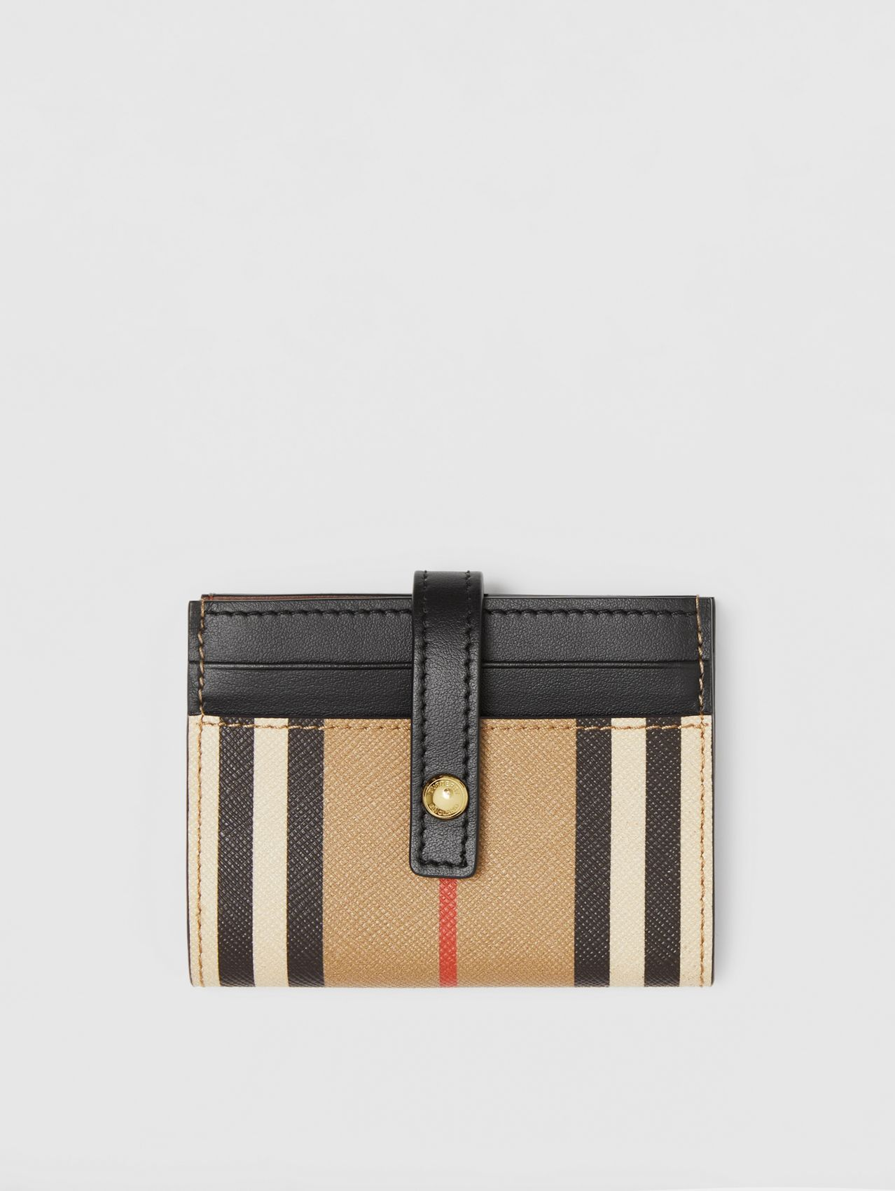 Icon Stripe E-canvas Folding Card Case in Archive Beige