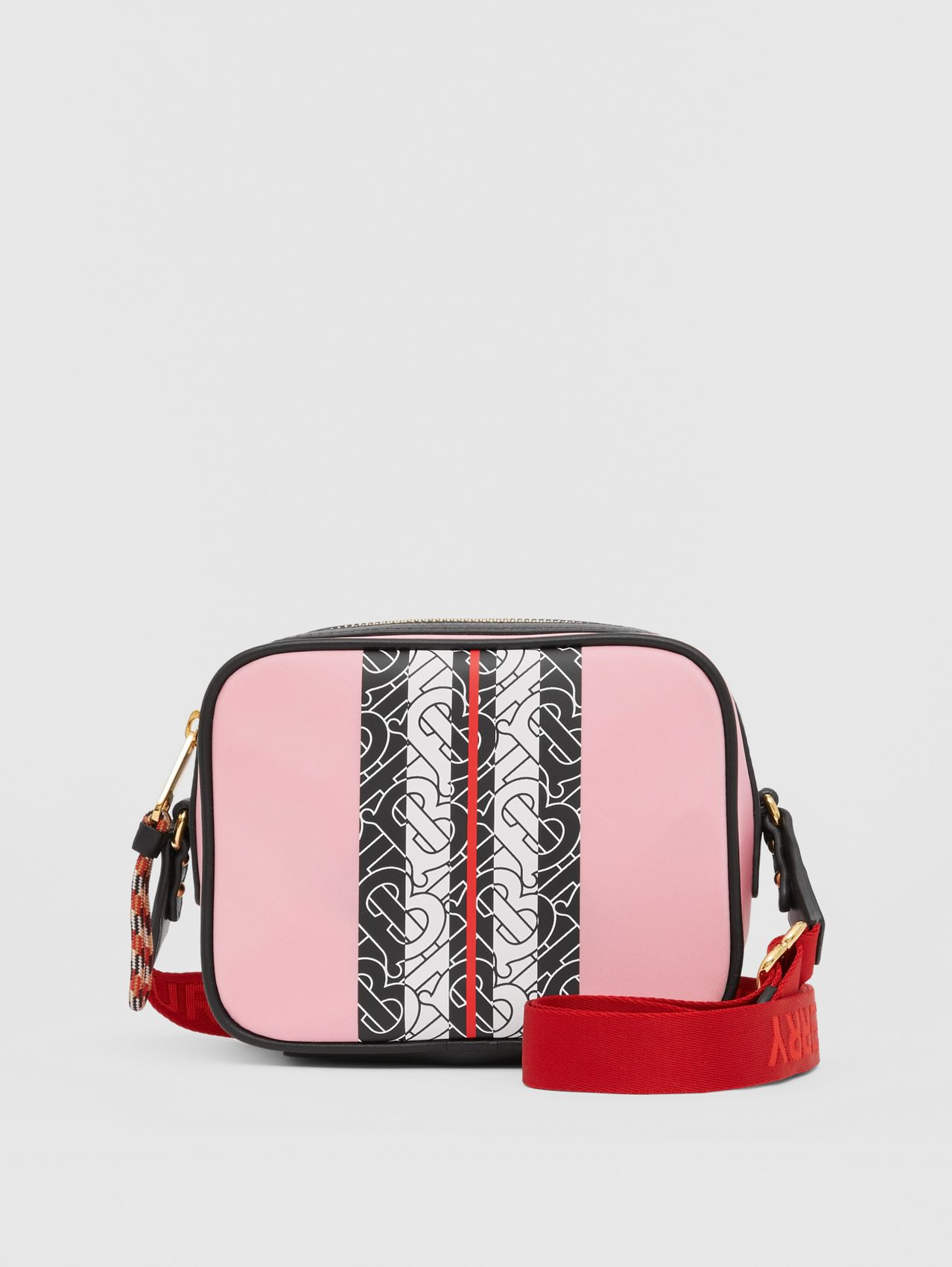 Monogram Stripe Print ECONYL® Camera Bag in Candy Pink
