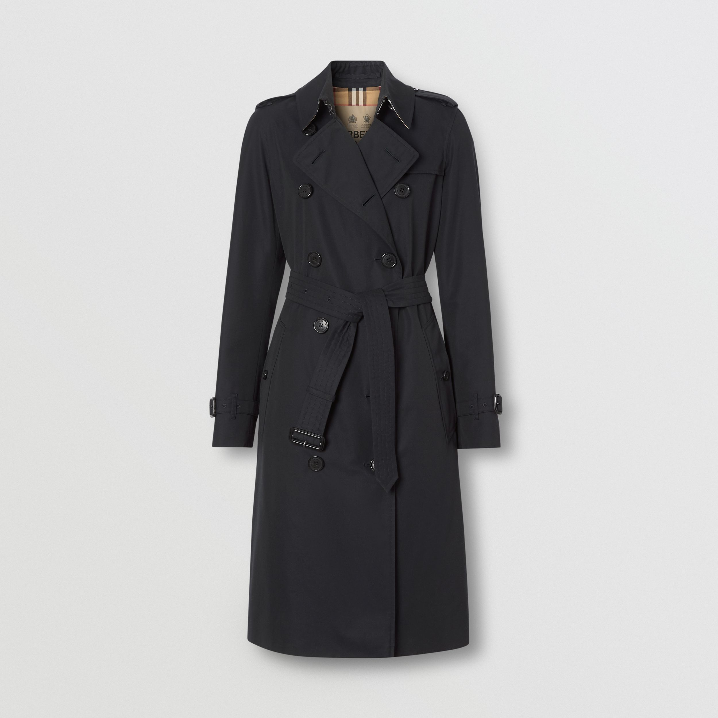 The Long Kensington Heritage Trench Coat in Midnight | Burberry - 3