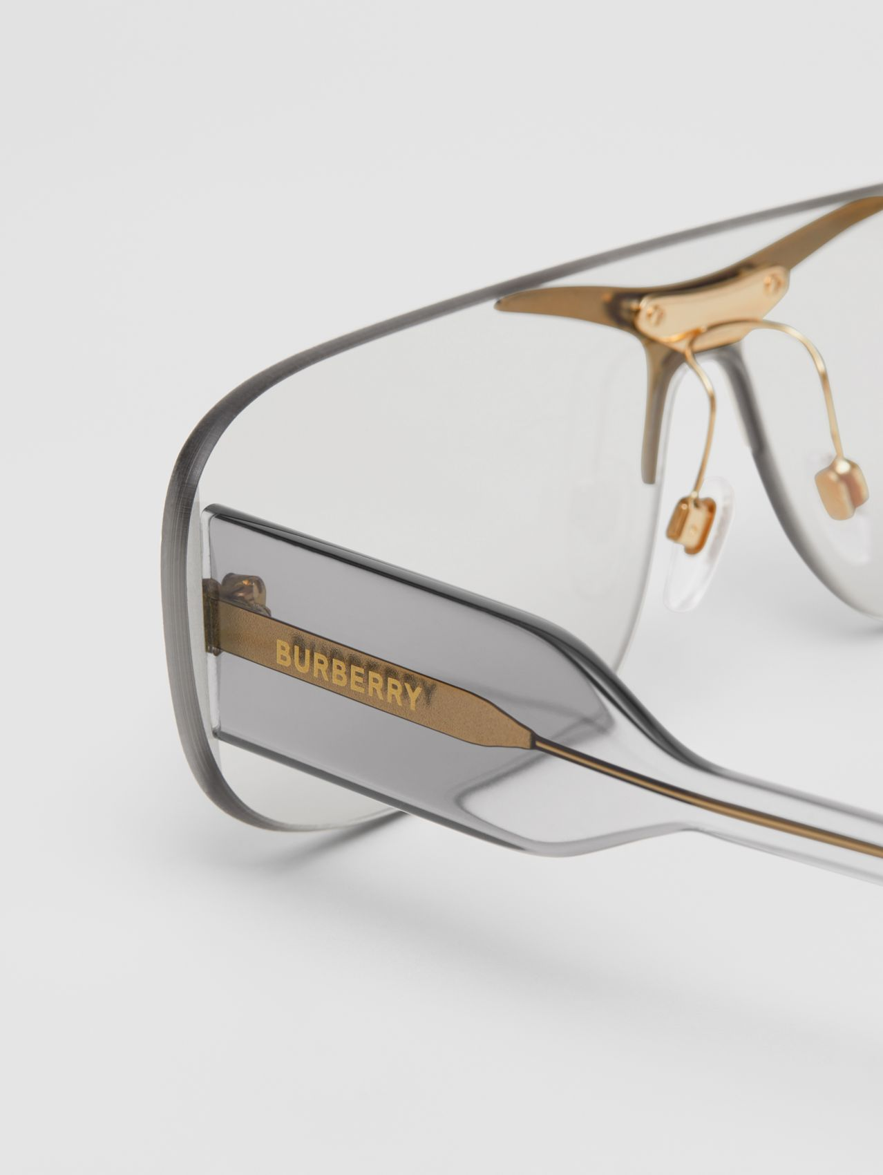 "Shield-Sonnenbrille ""Blake"" (Transparent)"