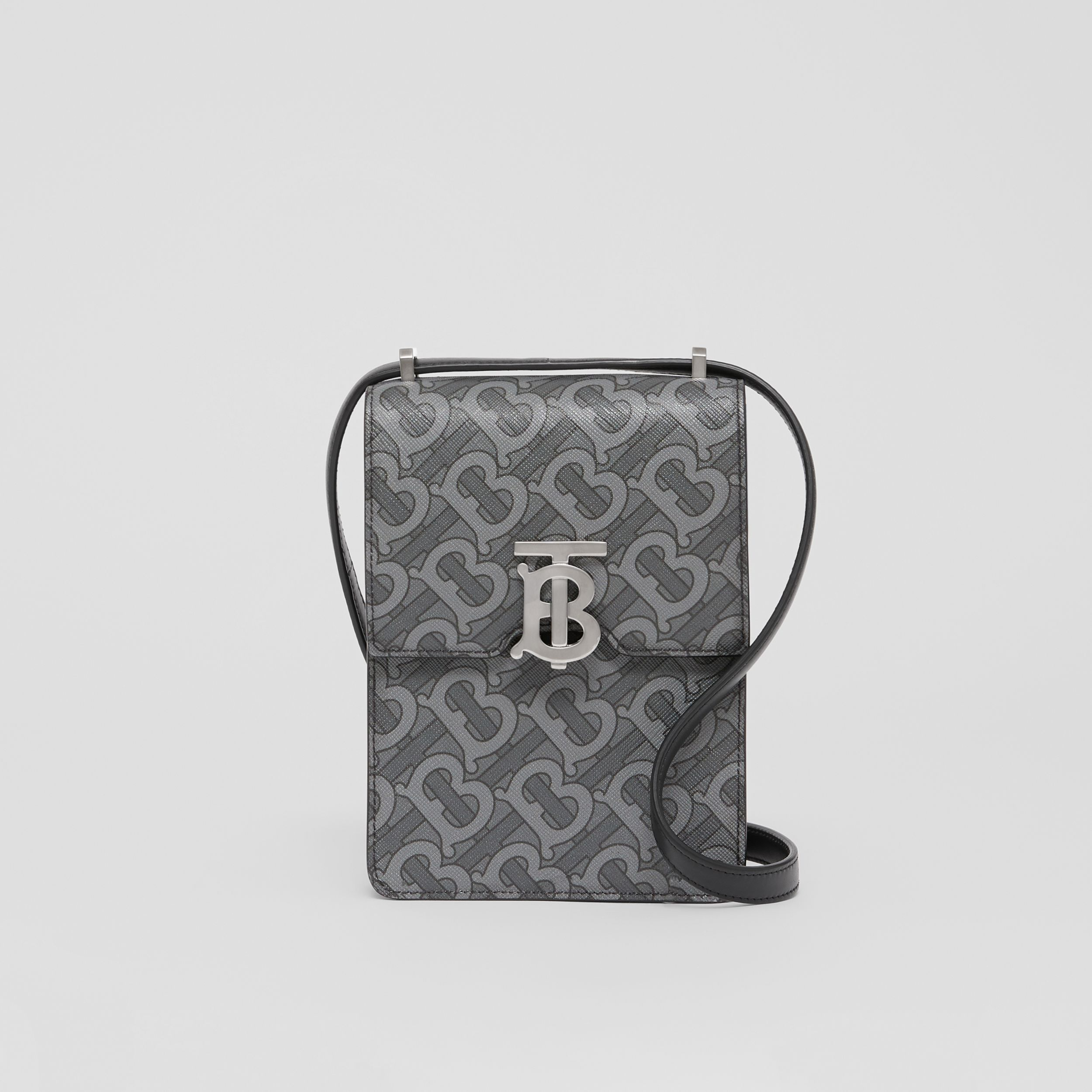 Monogram Print E-canvas Robin Bag in Charcoal/black - Men | Burberry - 1