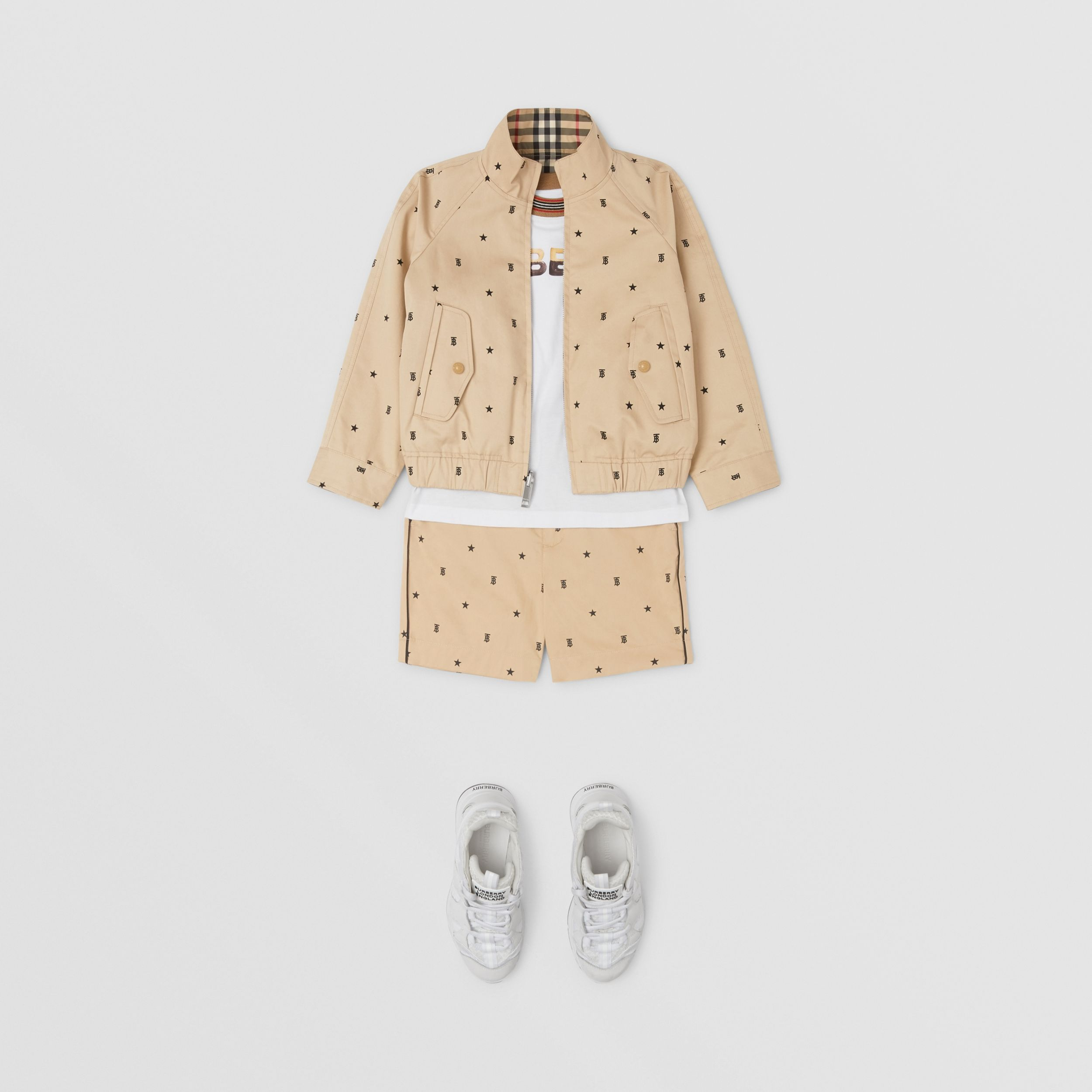 Reversible Star and Monogram Motif Cotton Jacket in Sand | Burberry - 3