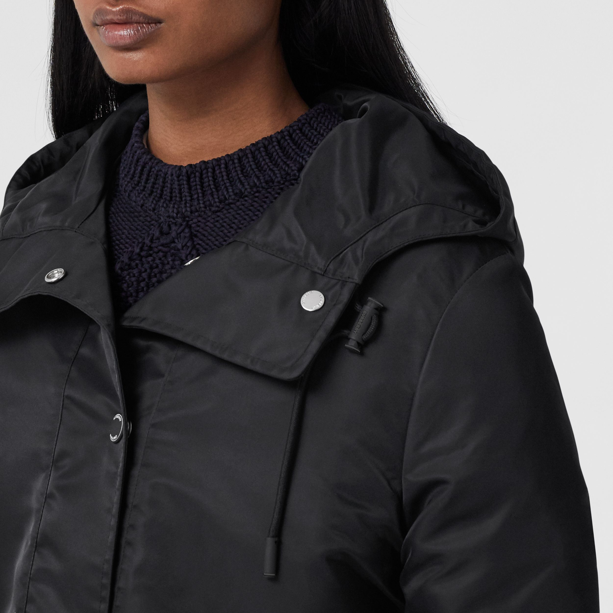 Horseferry Print Lightweight Hooded Parka in Black - Women | Burberry - 2