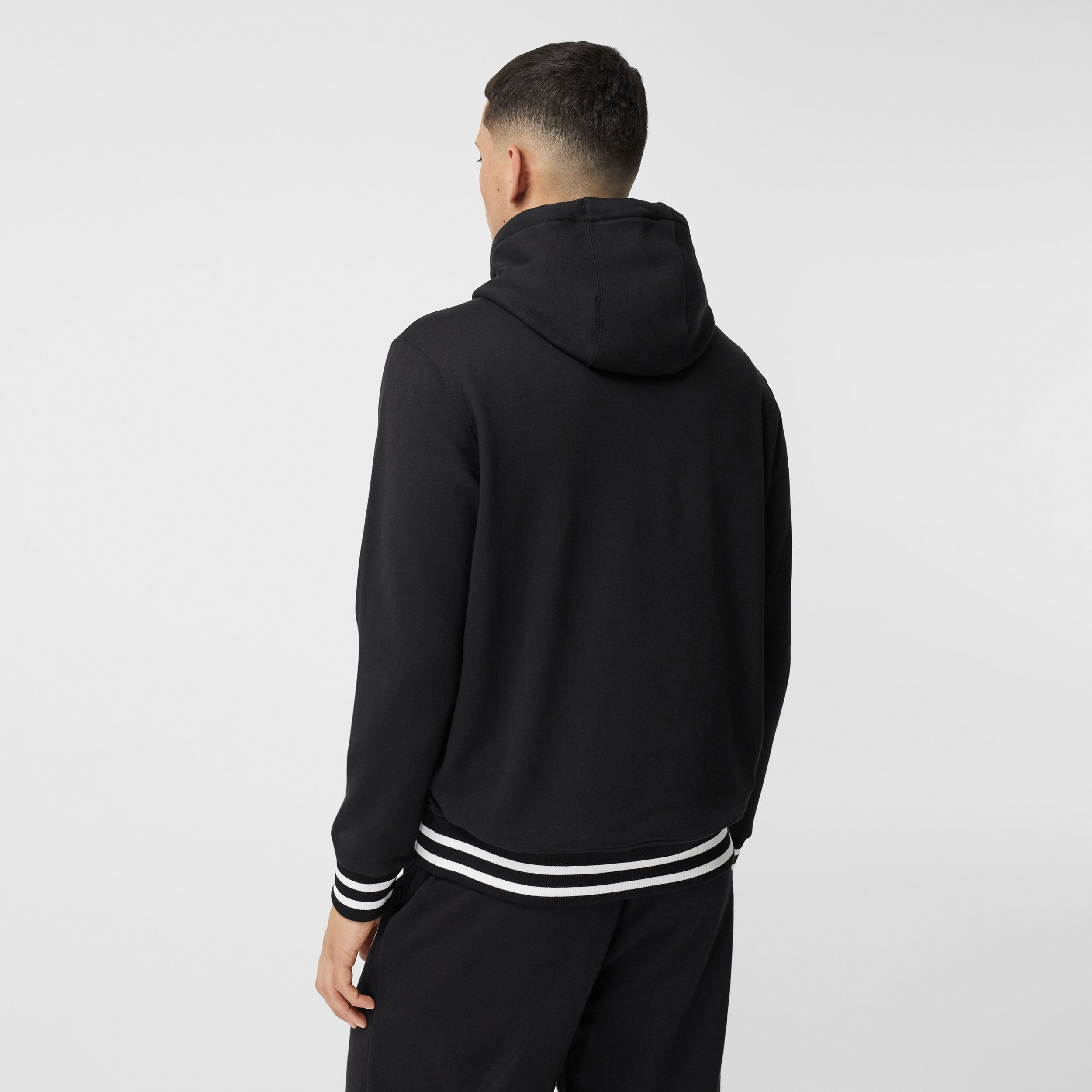Logo Graphic Cotton Oversized Hoodie in Black - Men | Burberry - 3
