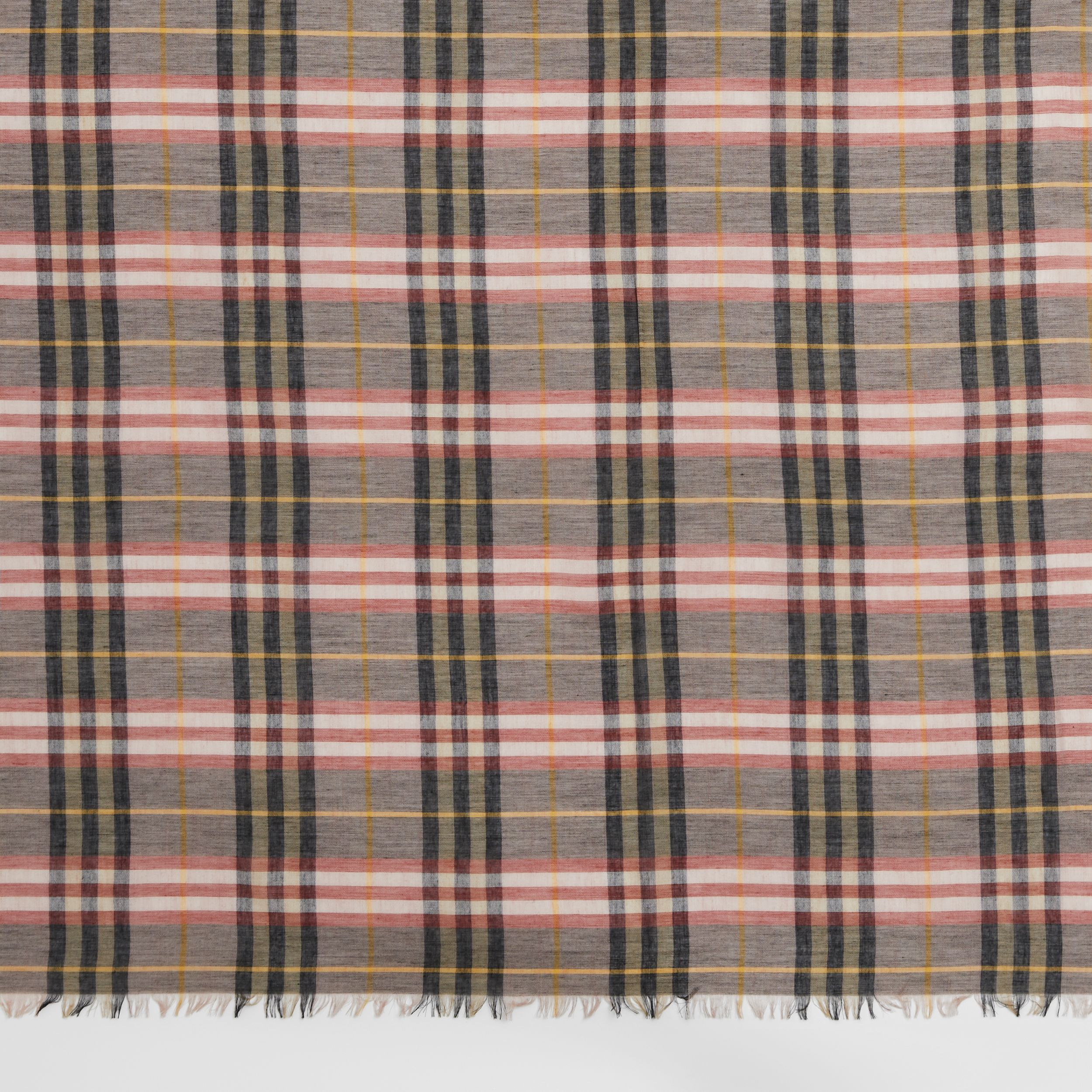 Check Modal and Wool Square Scarf in Ash Rose | Burberry - 2