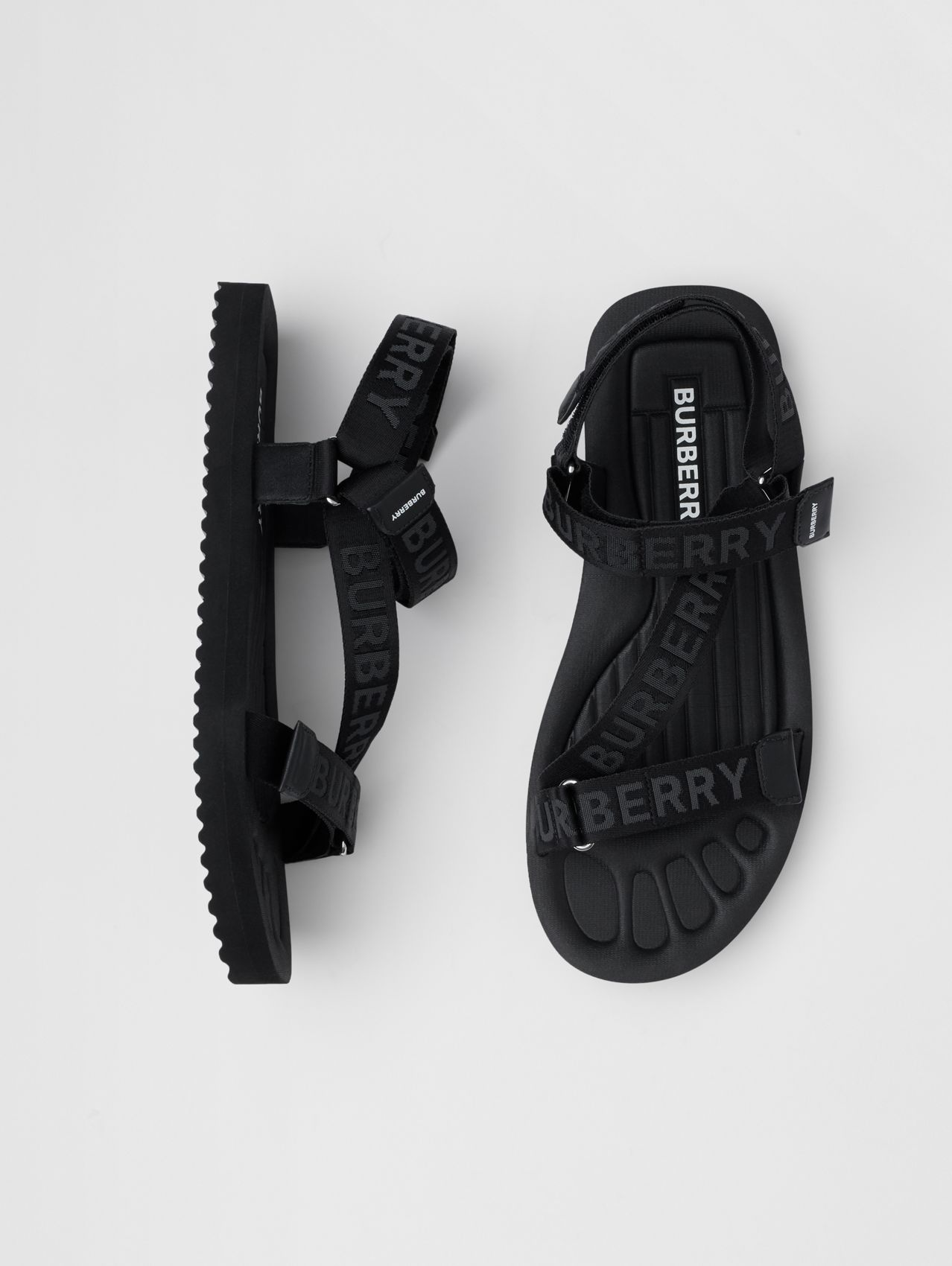 Logo Jacquard Sandals (Black)