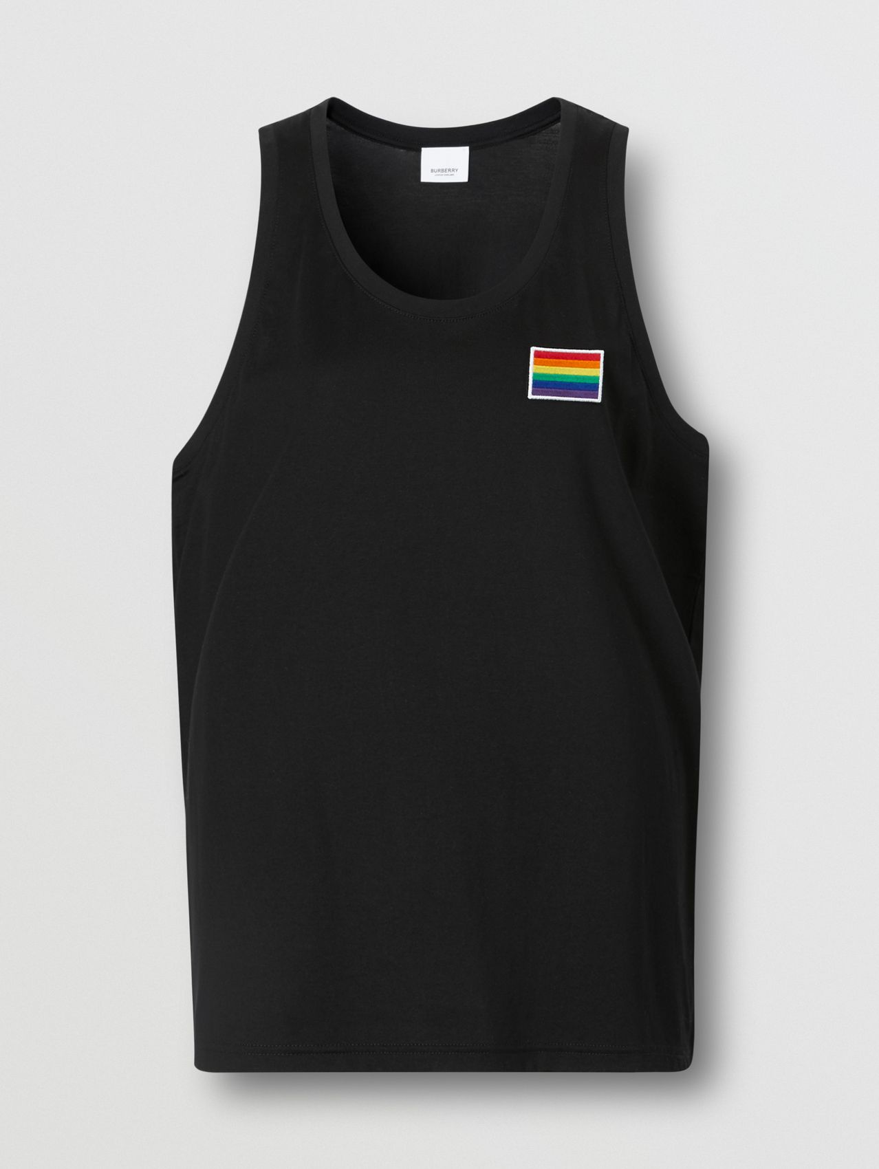 Rainbow Appliqué Cotton Vest – Unisex (Black)