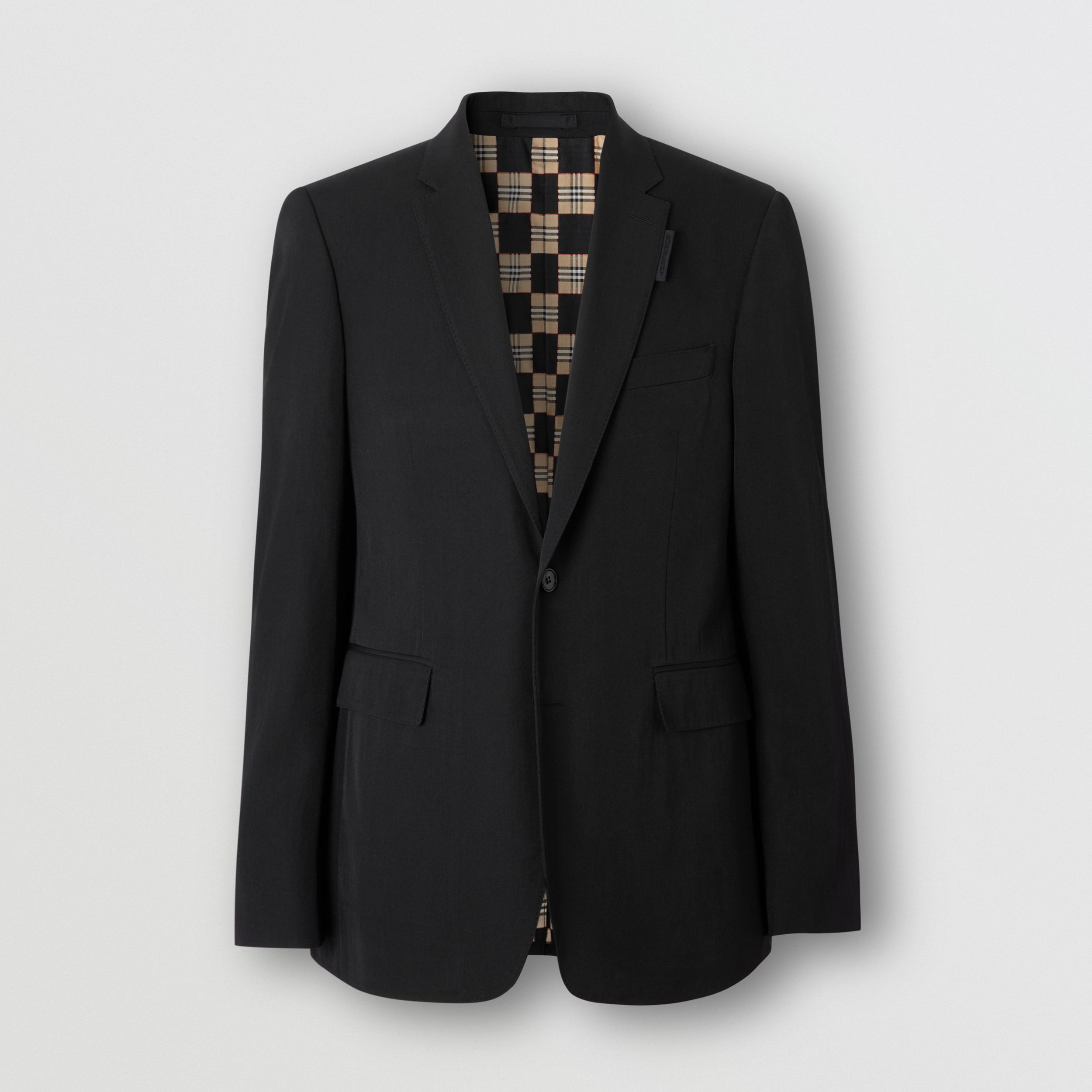 Slim Fit Technical Wool Twill Tailored Jacket - Men | Burberry - 4