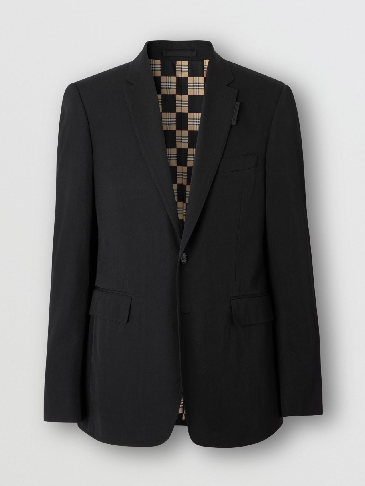 Slim Fit Technical Wool Twill Tailored Jacket