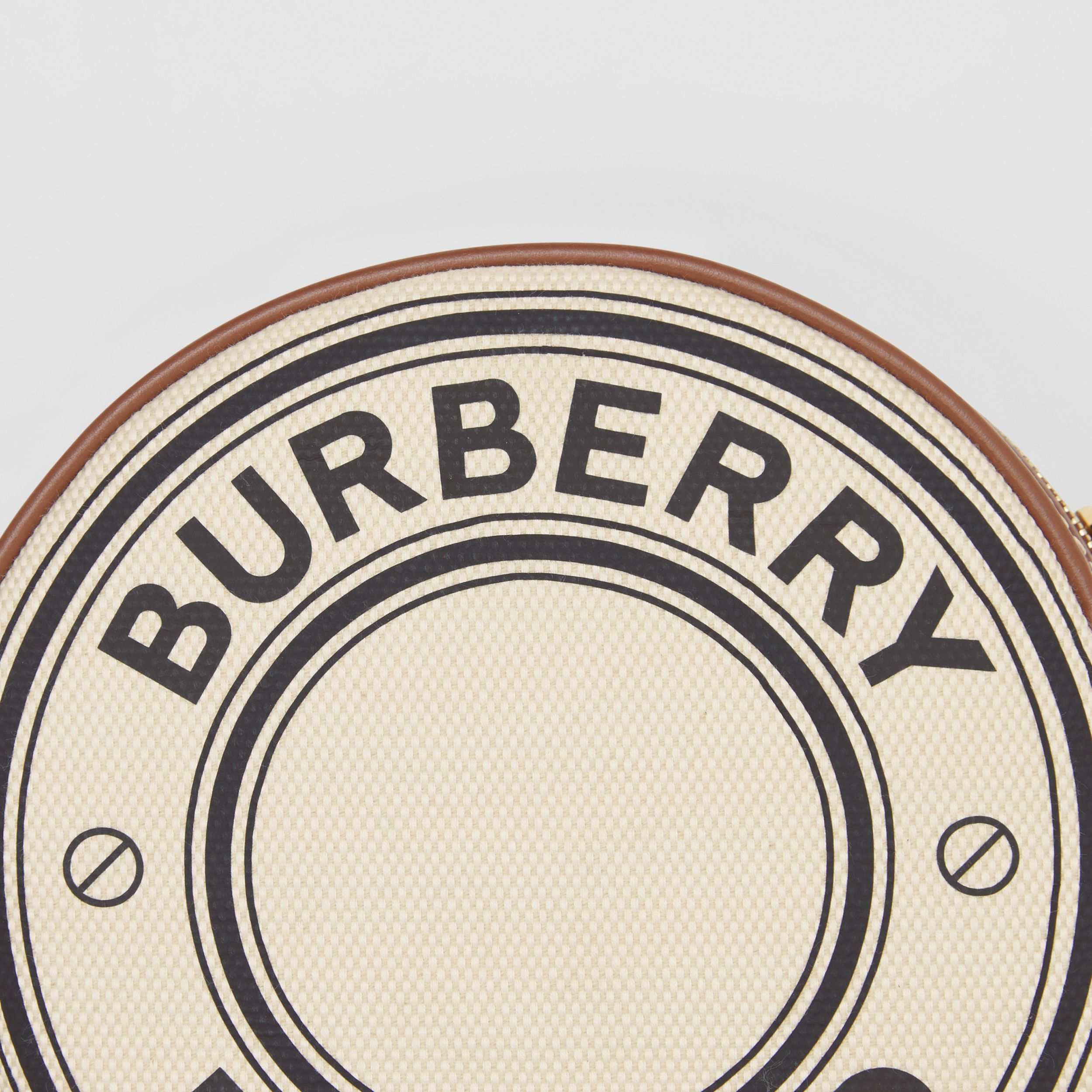 Logo Graphic Canvas and Leather Louise Bag in Natural/tan - Women | Burberry - 2