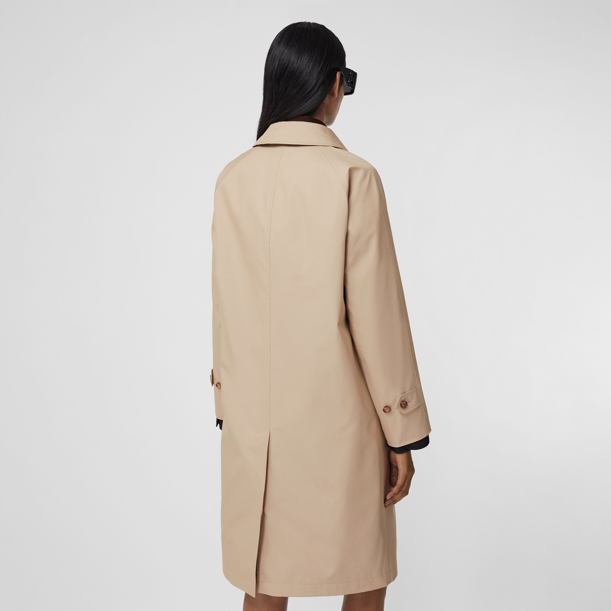 Technical Cotton Car Coat in Soft Fawn - Women | Burberry United States - 3