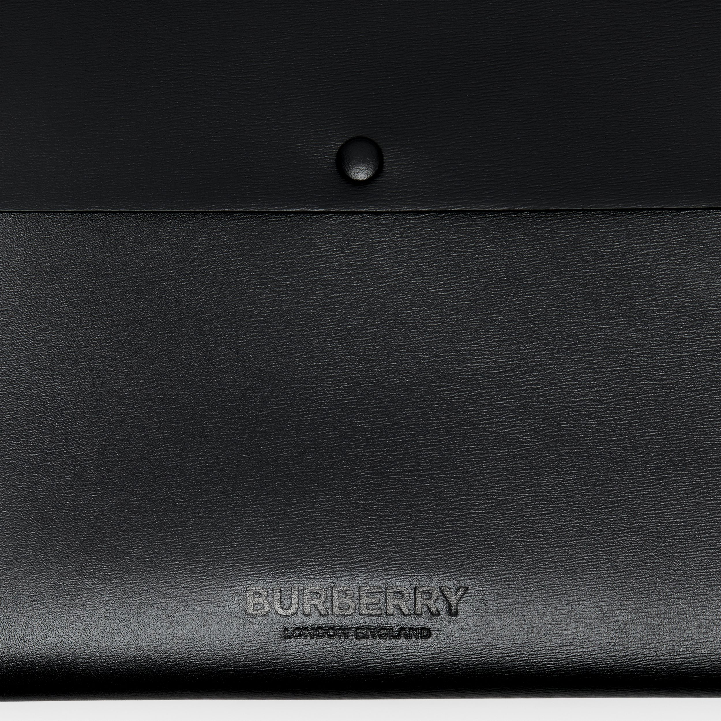 Large Suede and Leather Envelope Pouch in Black | Burberry Australia - 2