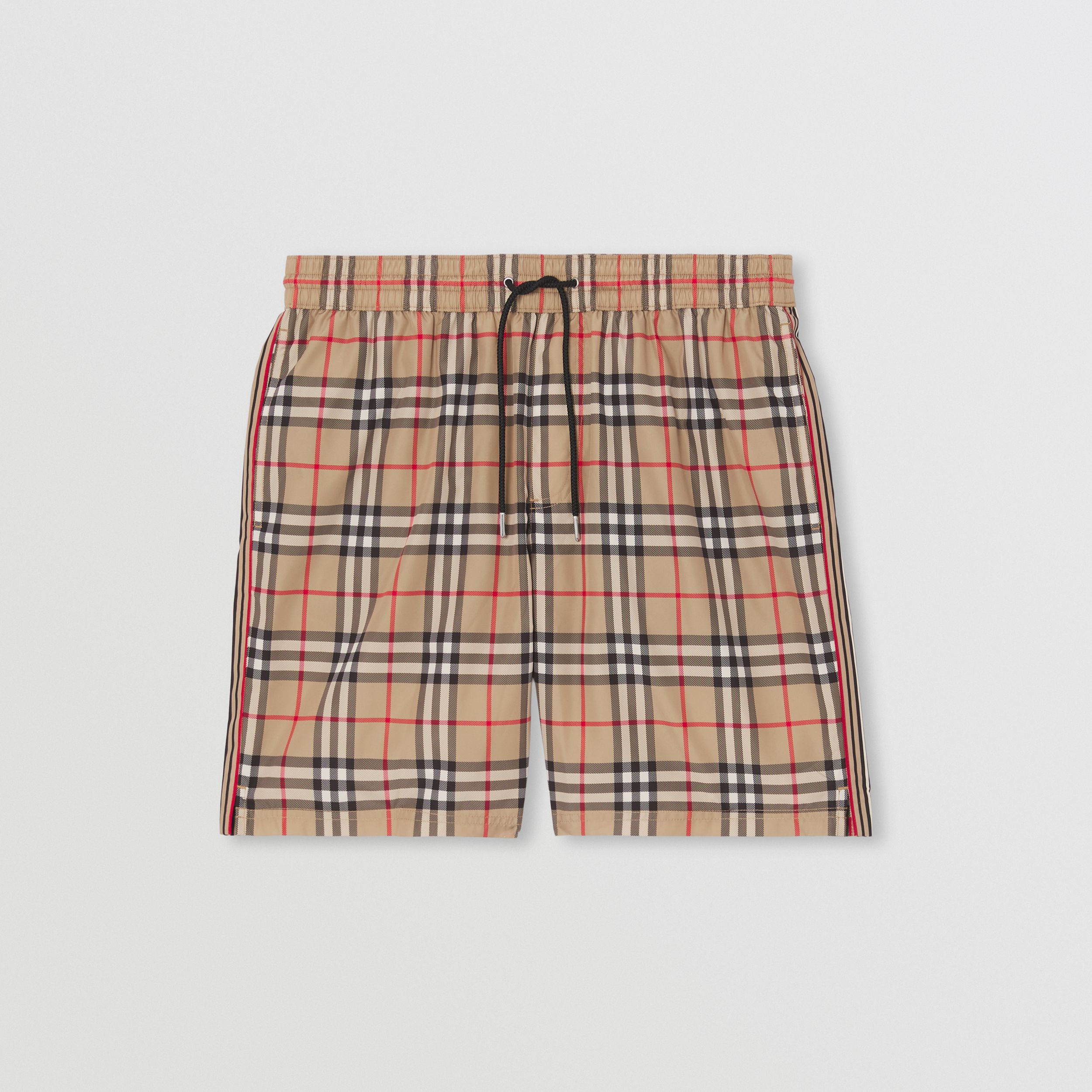 Vintage Check Drawcord Swim Shorts in Archive Beige - Men | Burberry Singapore - 3