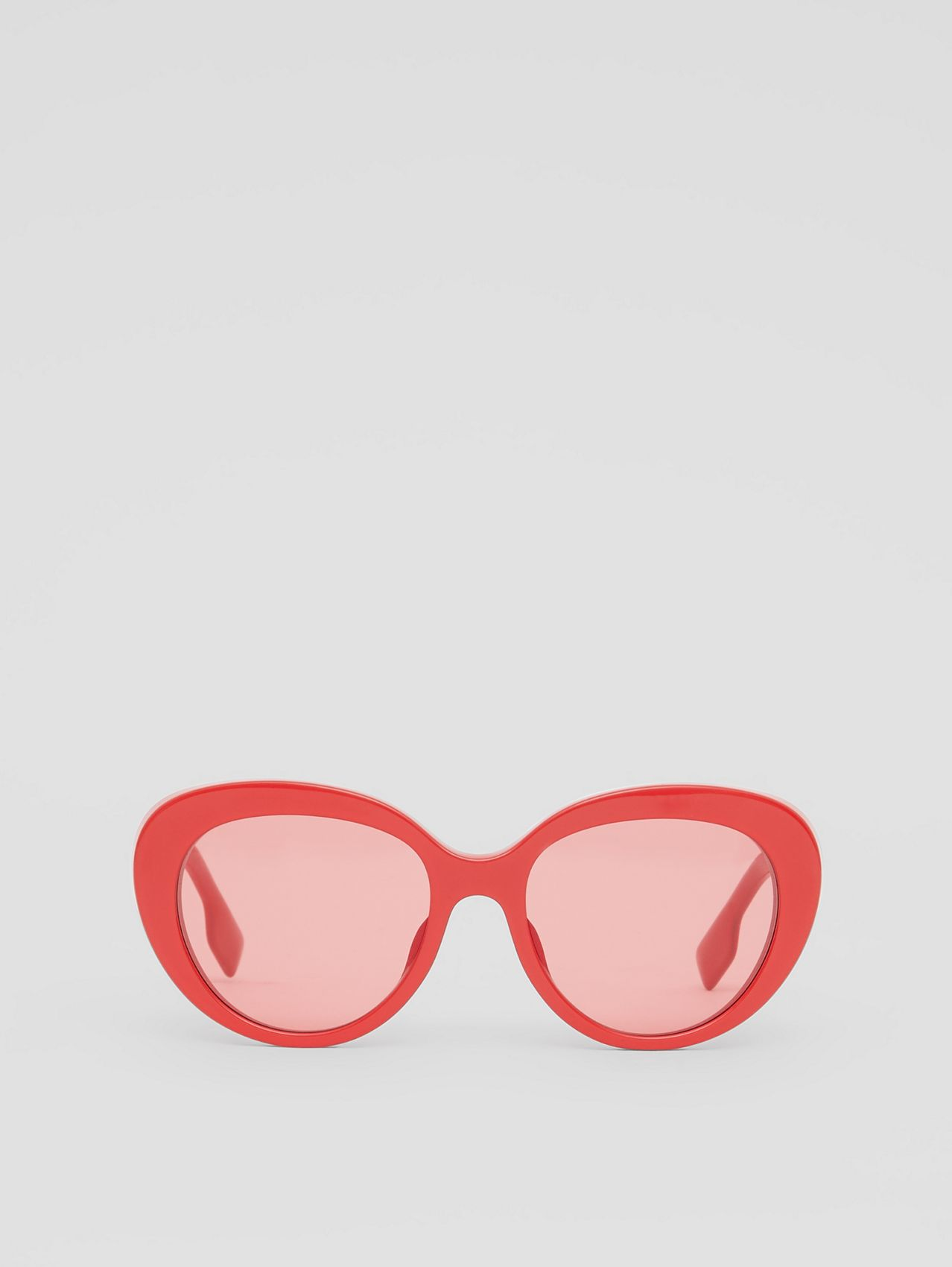Monogram Motif Cat-eye Frame Sunglasses in Red