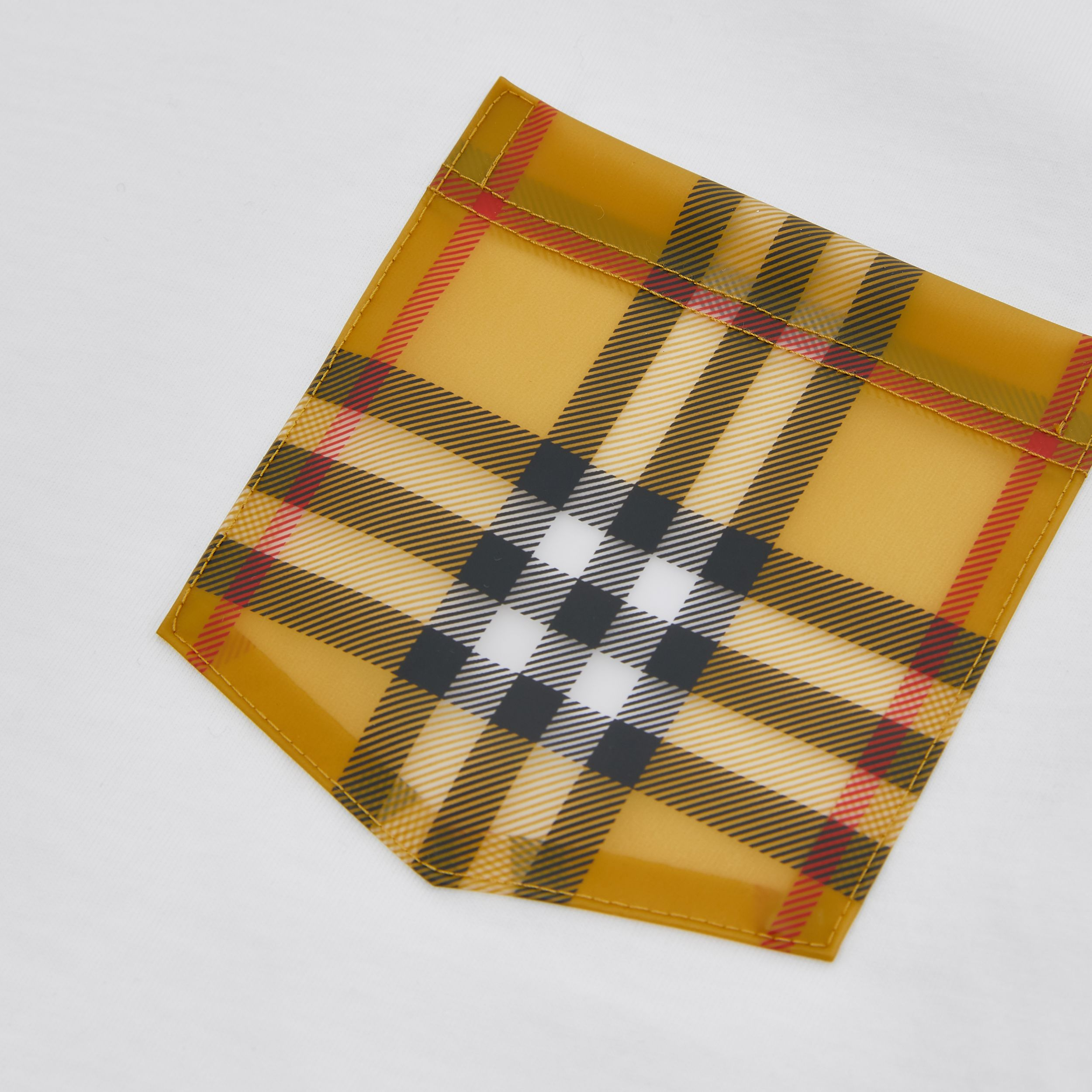 Vintage Check Pocket Cotton T-shirt in White | Burberry - 2