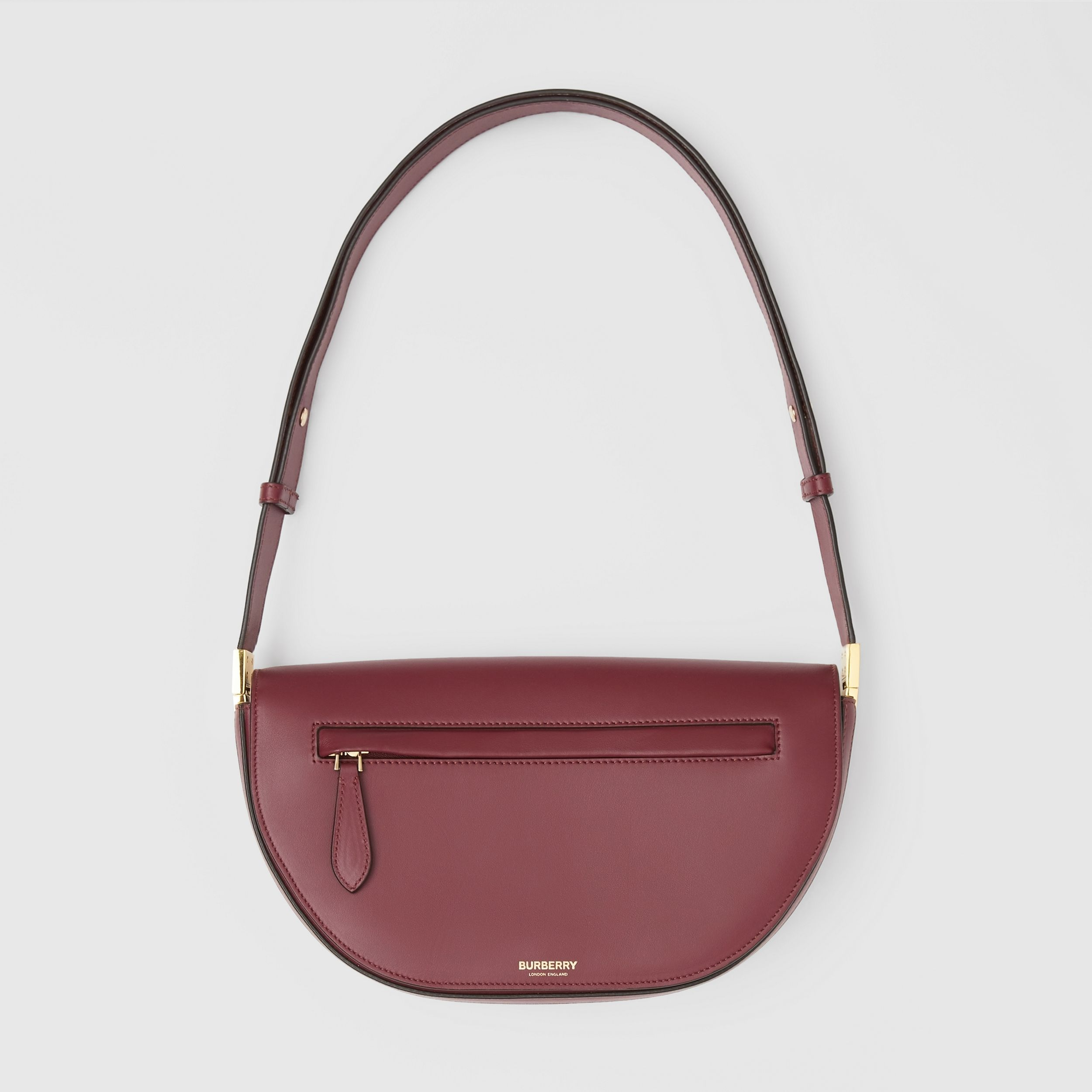 Small Leather Olympia Bag in Burgundy | Burberry Australia - 1