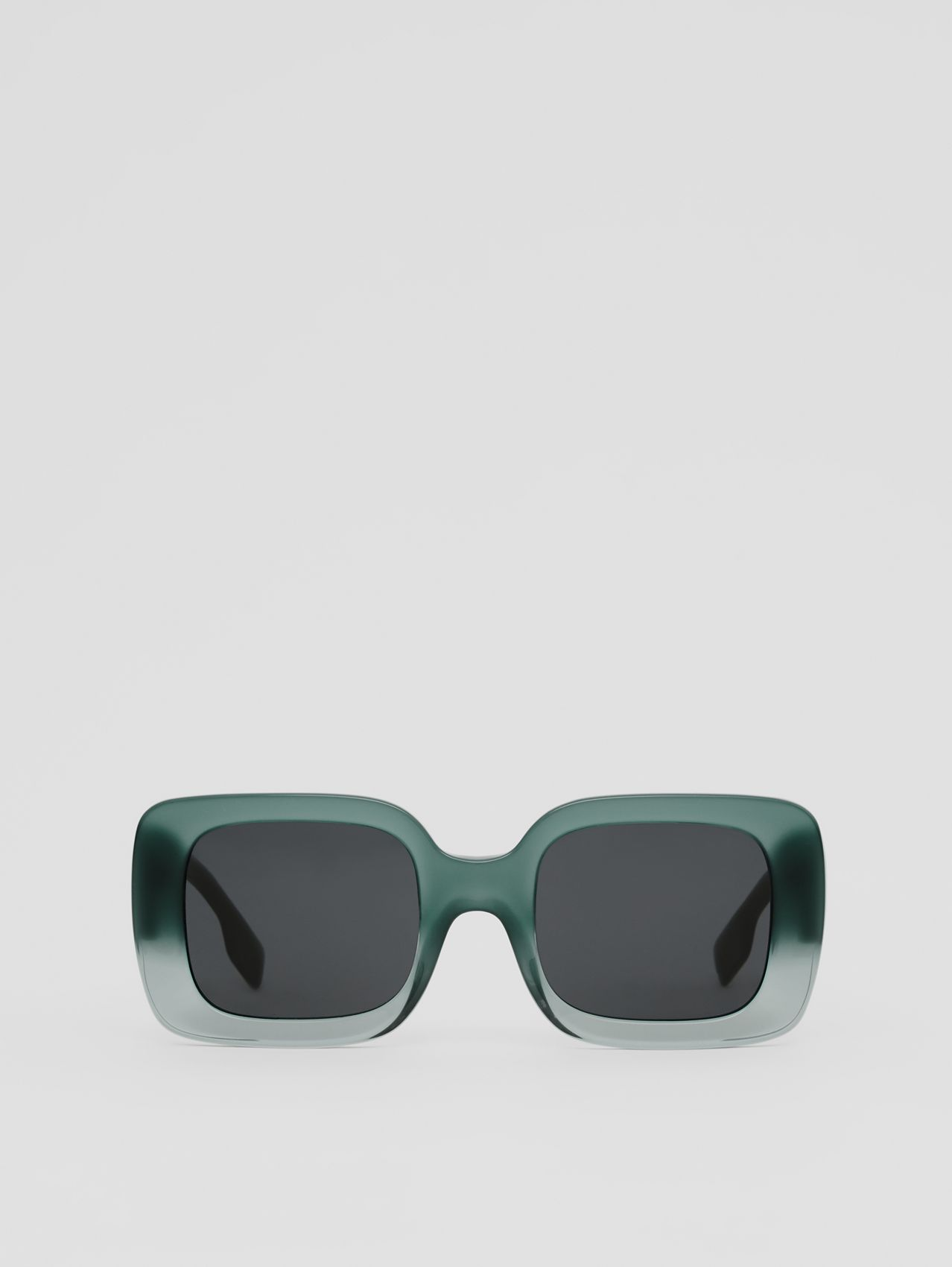 Monogram Motif Square Frame Sunglasses in Dark Green