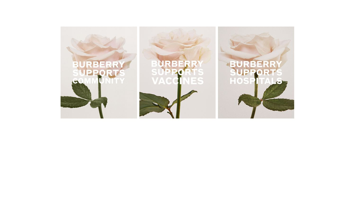 Burberry Supports the Fight<br>Against COVID-19