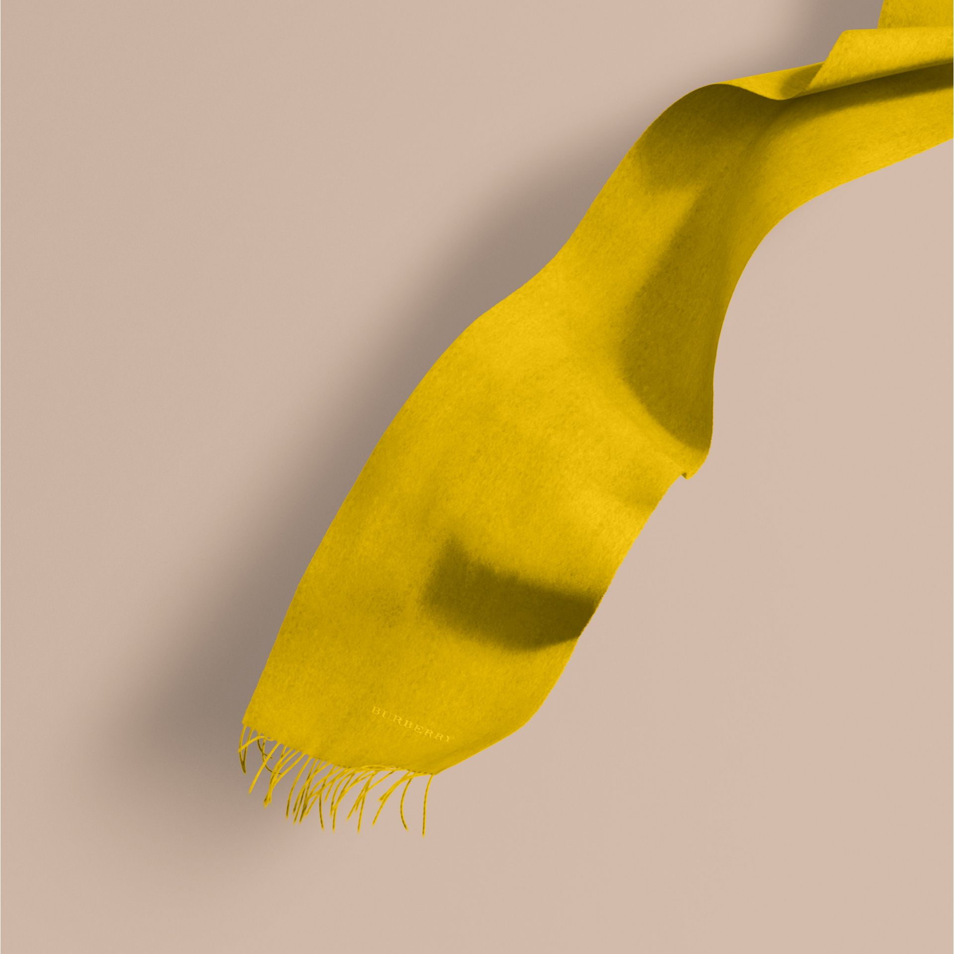 Gorse yellow The Classic Cashmere Scarf Gorse Yellow - gallery image 1