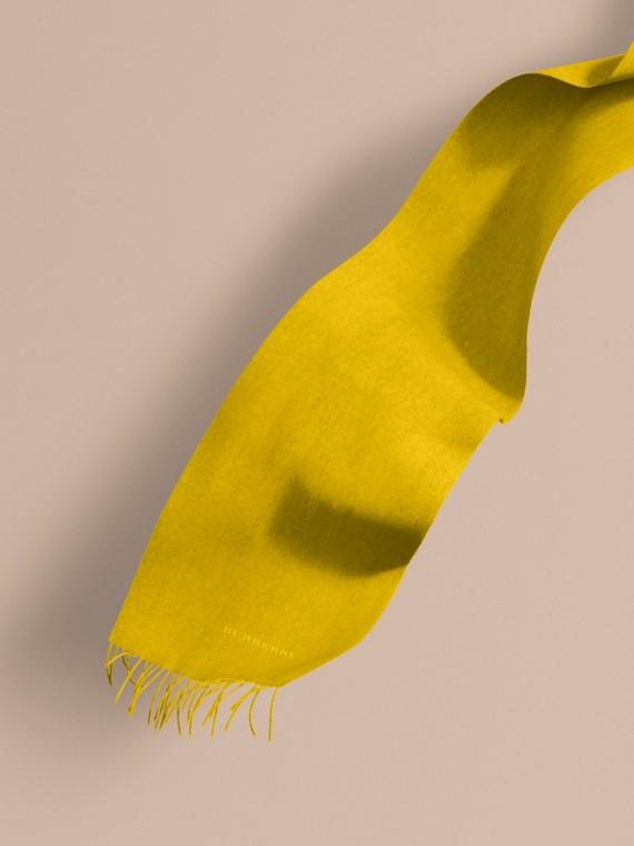 L'écharpe classique en cachemire Jaune Ajonc