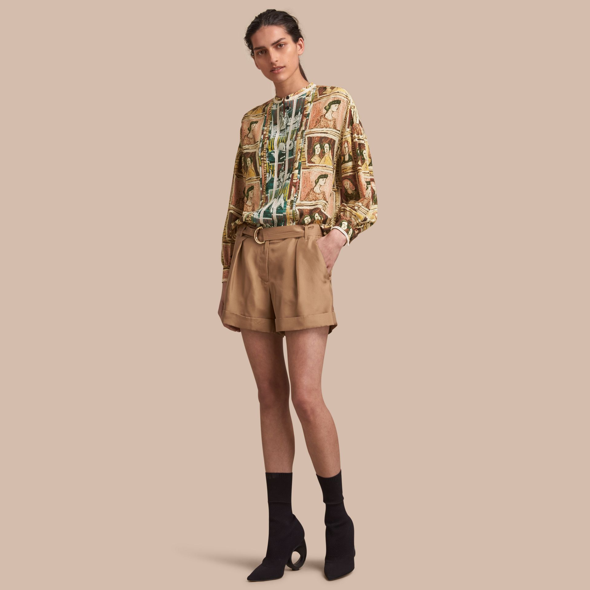 Tailored Silk Shorts - gallery image 1
