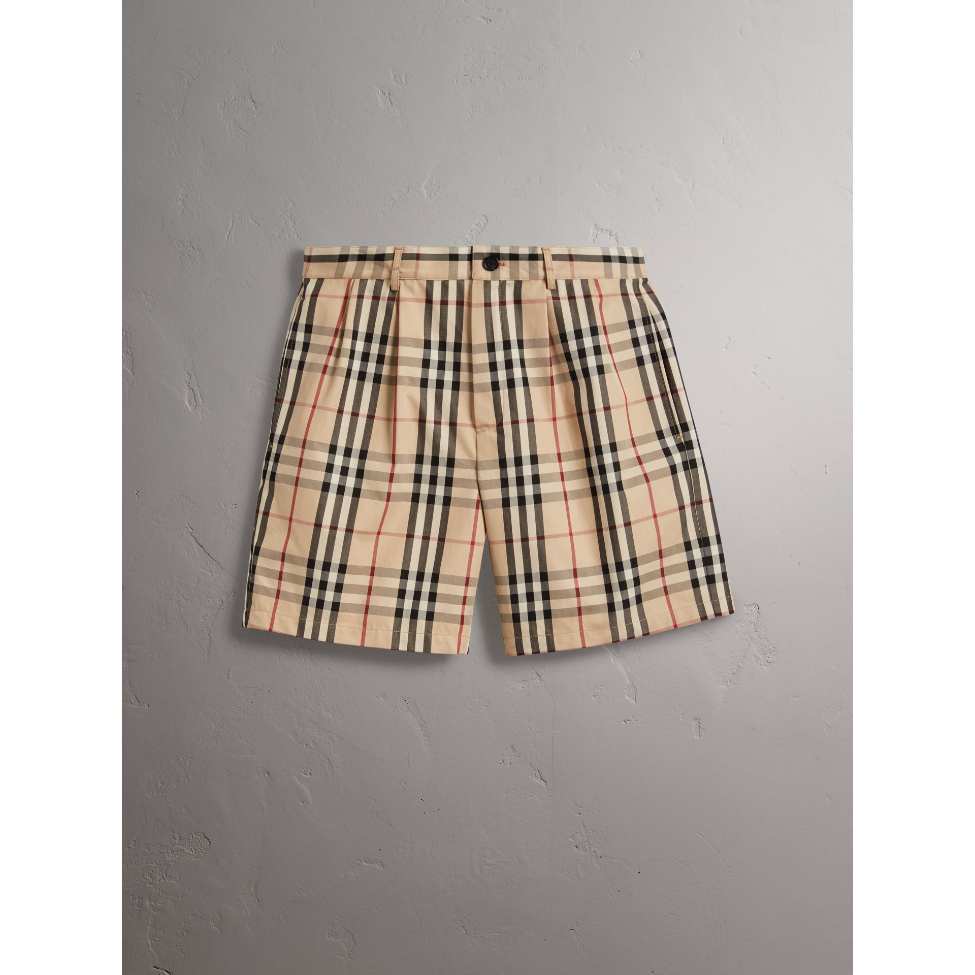 Gosha x Burberry Tailored Shorts in Honey | Burberry - gallery image 4