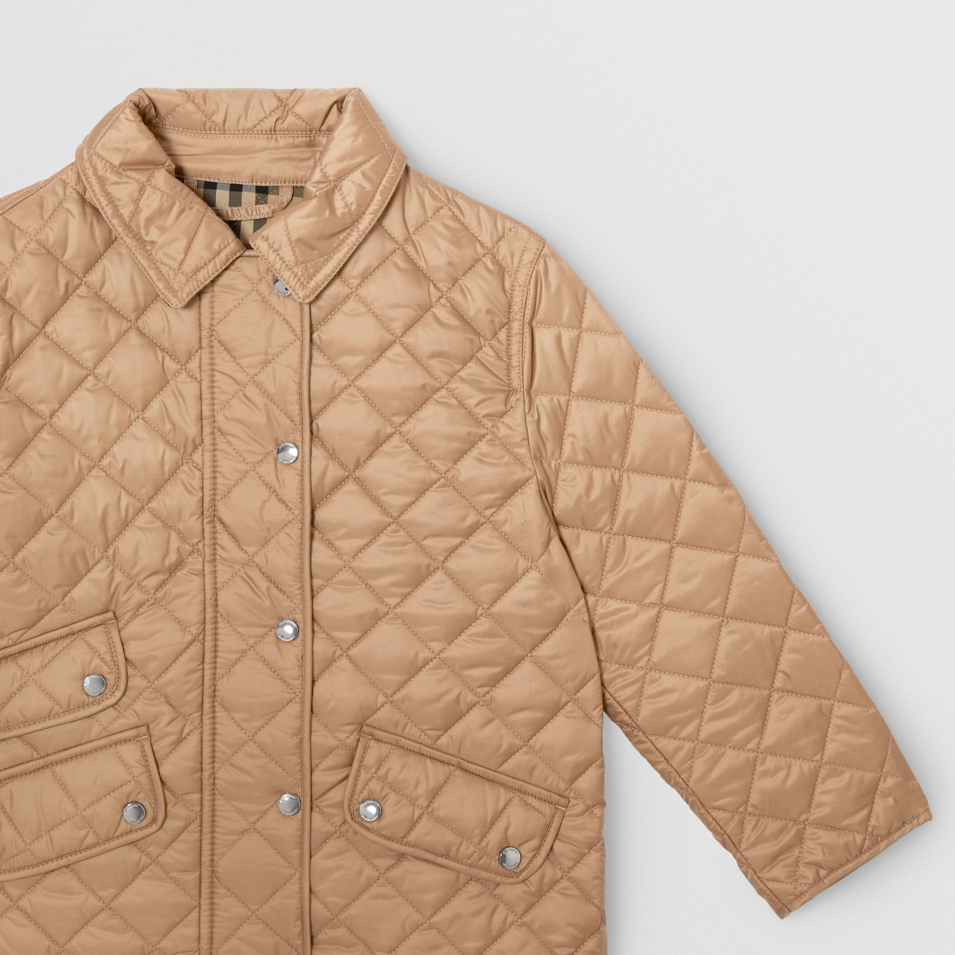 Lightweight Diamond Quilted Jacket in Honey | Burberry - gallery image 5