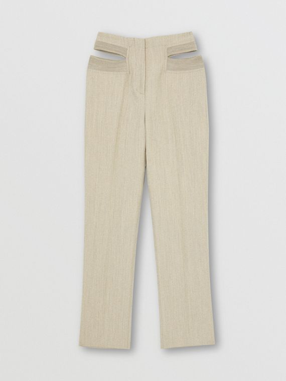 Technical Wool Reconstructed Trousers in Grey