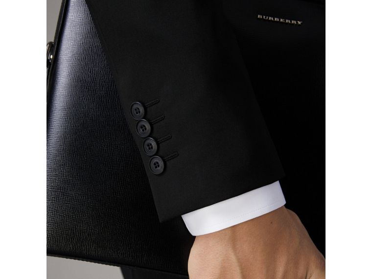 Slim Fit Wool Part-canvas Suit in Black - Men | Burberry - cell image 1