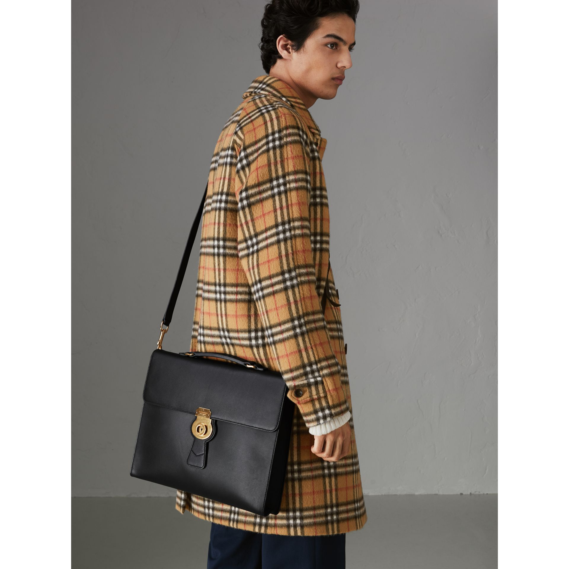 Grand porte-documents DK88 (Noir/noir) - Homme | Burberry Canada - photo de la galerie 3