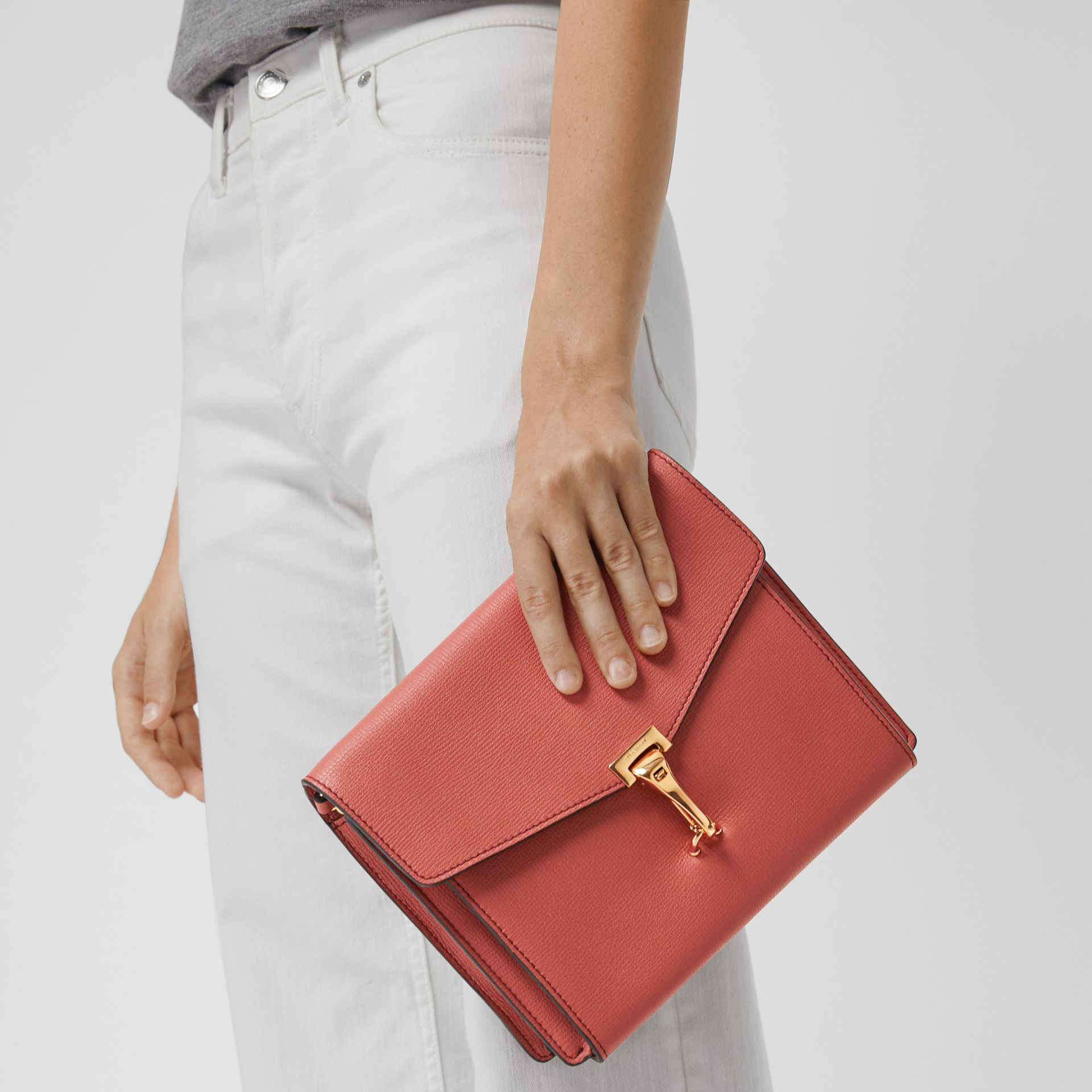 Small Leather Crossbody Bag in Cinnamon Red - Women | Burberry - gallery image 3