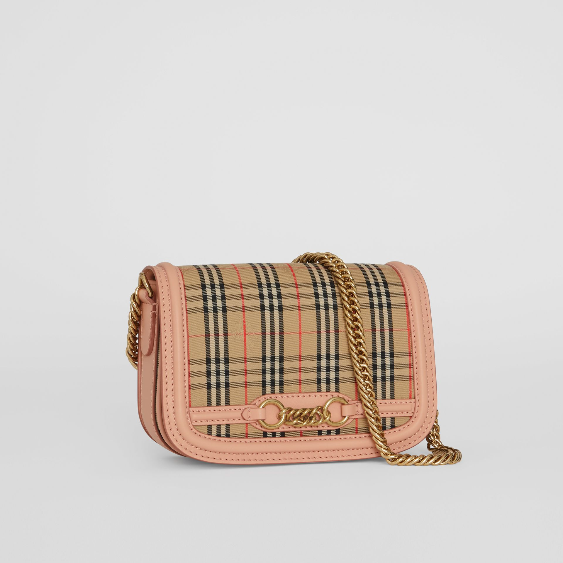 The 1983 Check Link Bag with Leather Trim in Peach - Women | Burberry - gallery image 6