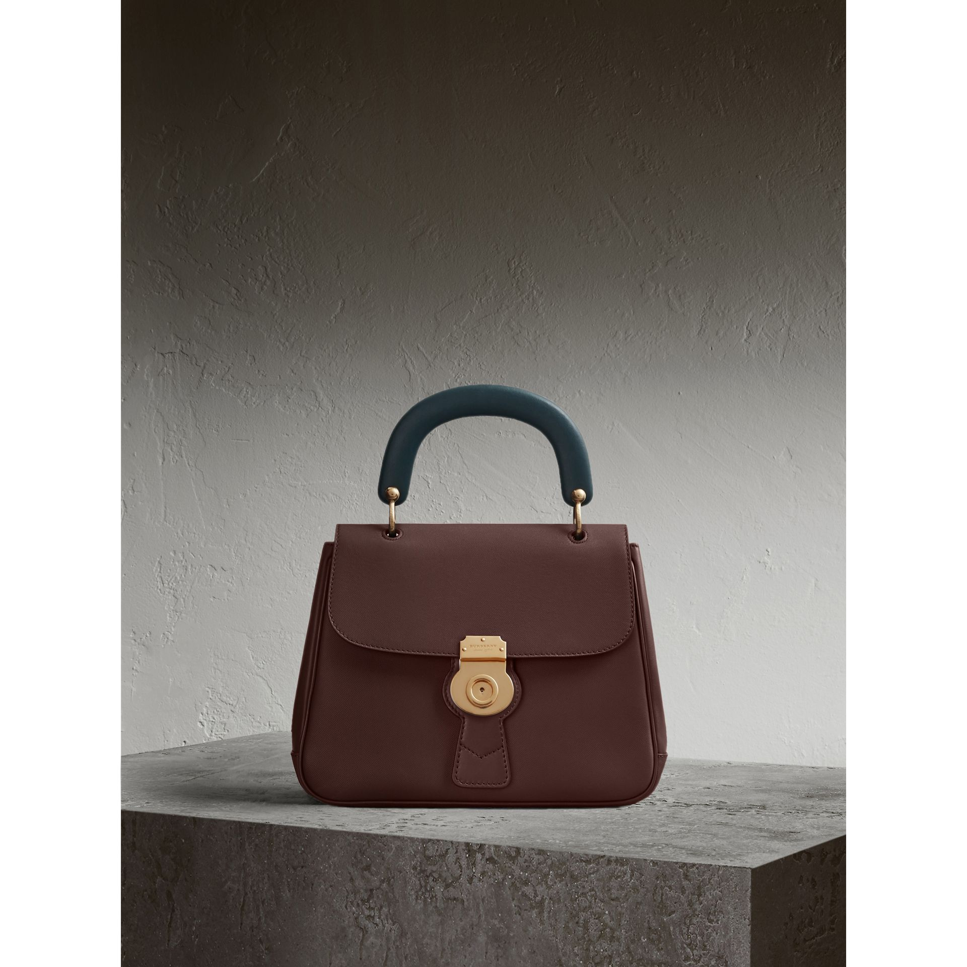 The Medium DK88 Top Handle Bag in Dark Chocolate - gallery image 1