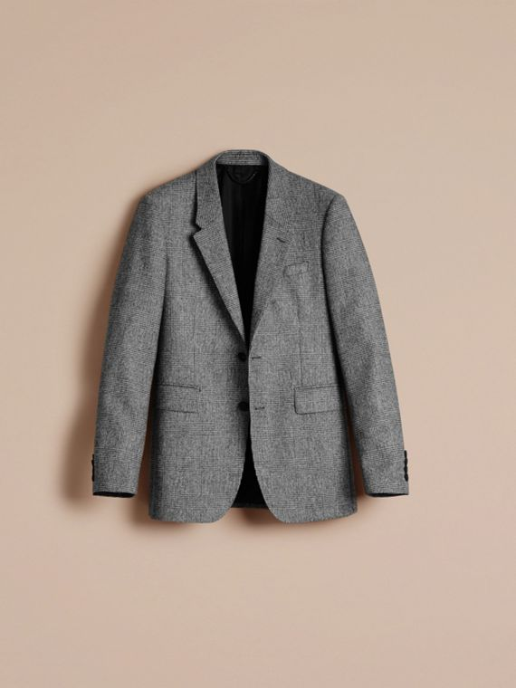 Black/white Slim Fit Prince of Wales Wool Tailored Jacket - cell image 2