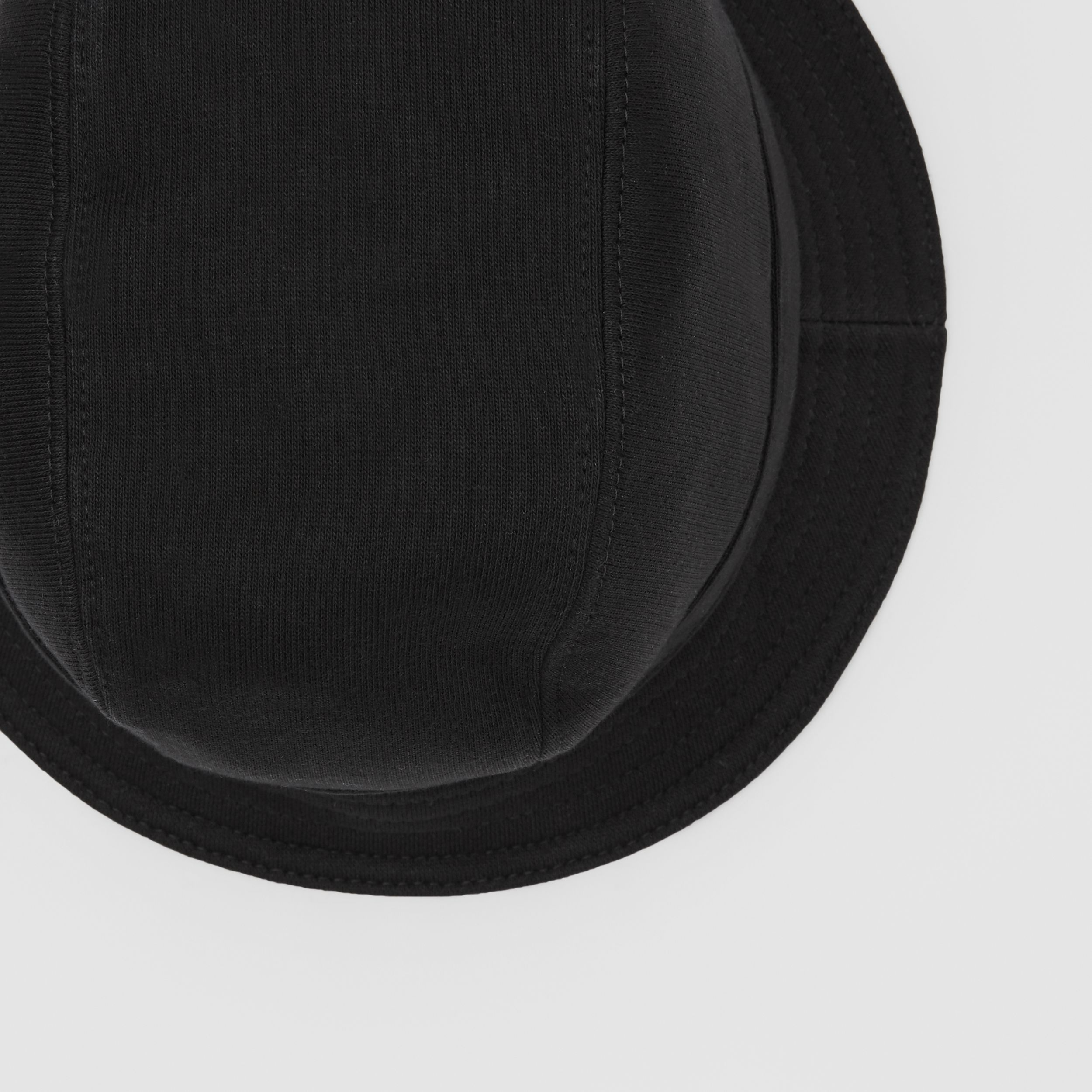 Logo Print Cotton Jersey Bucket Hat in Black | Burberry - 2