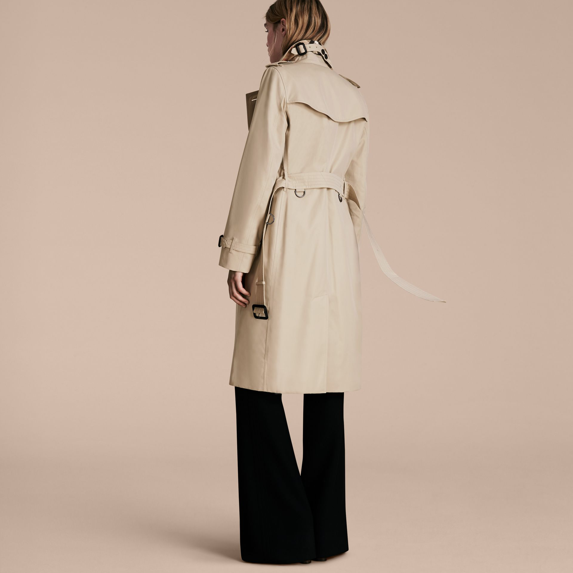 Stone The Kensington – Extra-long Heritage Trench Coat Stone - gallery image 3