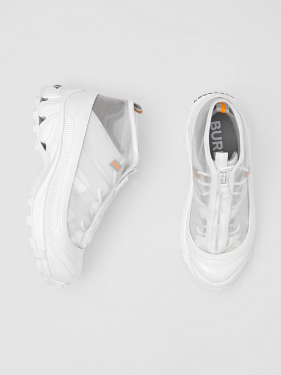 Nylon and Suede Arthur Sneakers in White