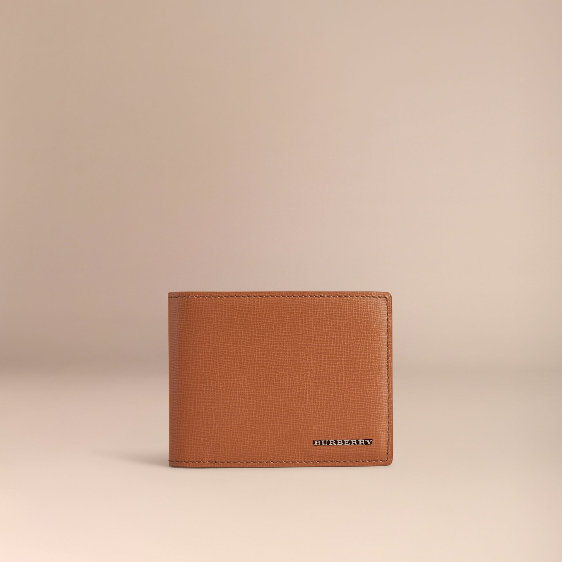 London Leather Bifold Wallet in Tan | Burberry - gallery image 6