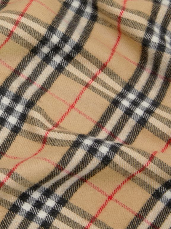 Vintage Check Merino Wool Baby Blanket in Archive Beige - Children | Burberry United States - cell image 1