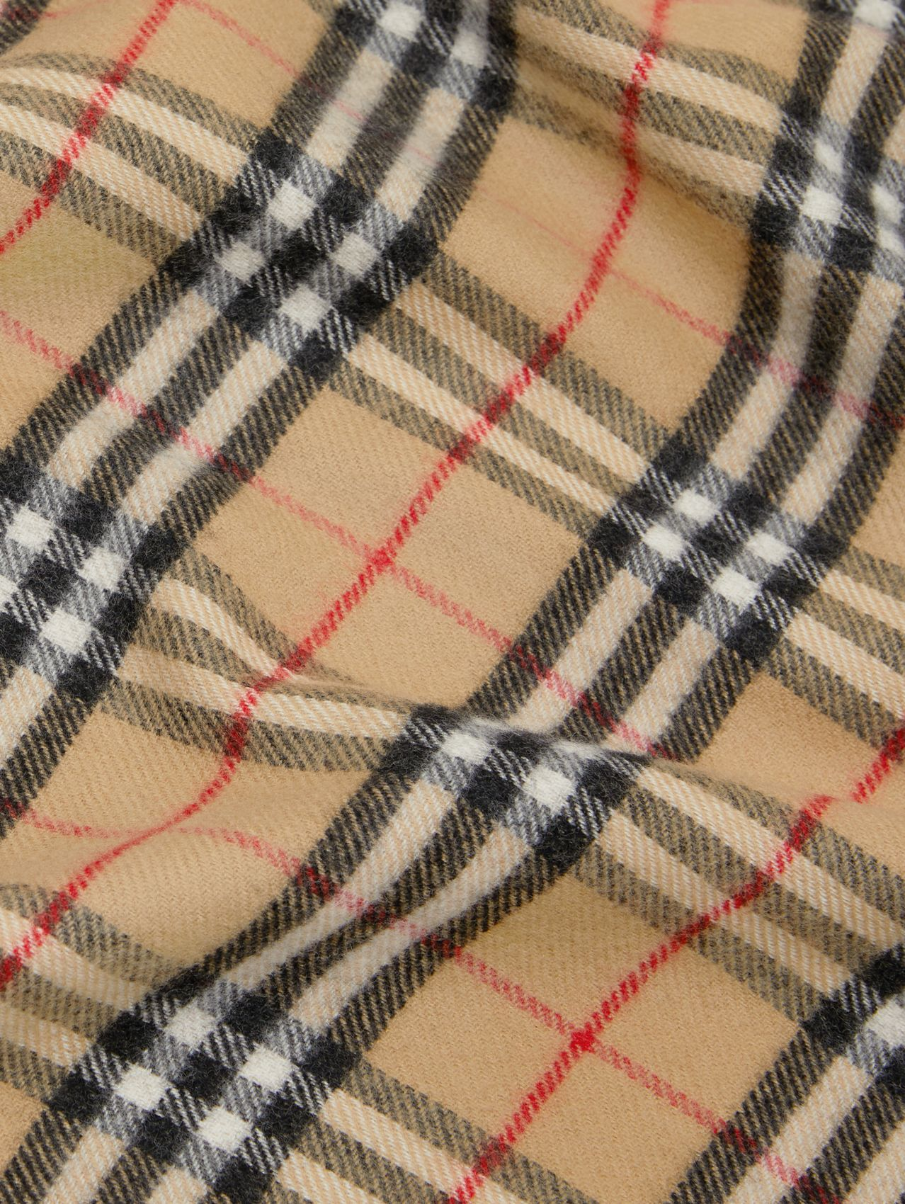 Vintage Check Wool Baby Blanket in Archive Beige