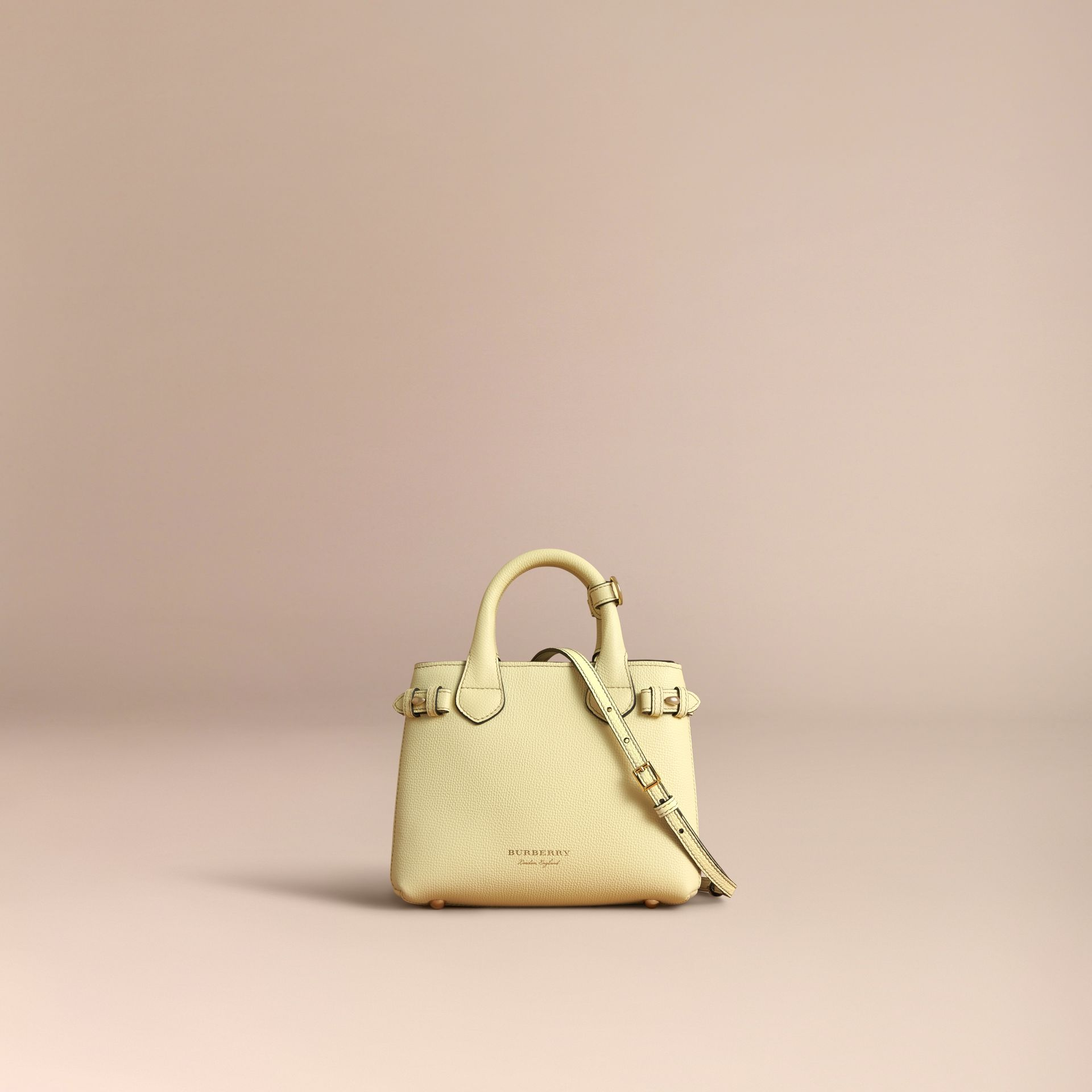 The Baby Banner in Leather and House Check in Camomile Yellow - Women | Burberry Canada - gallery image 7