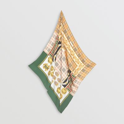 Archive Scarf Print Silk Square Scarf