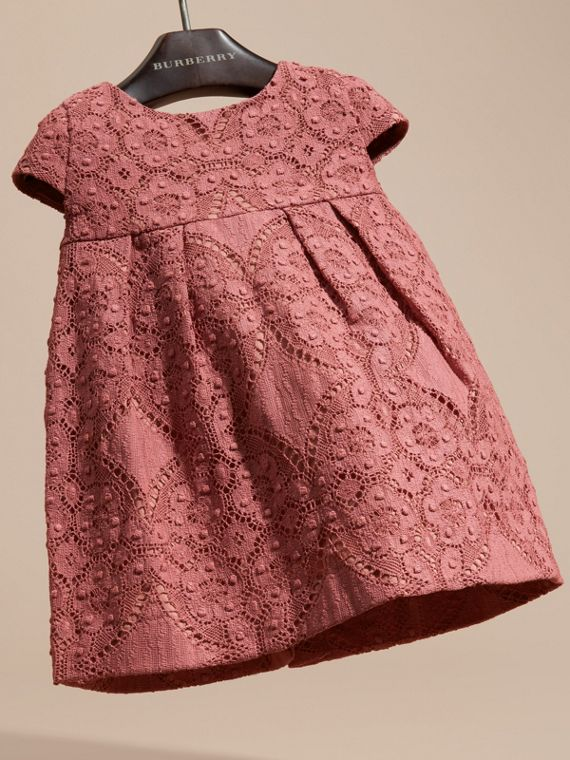 Antique rose English Lace A-line Dress - cell image 2