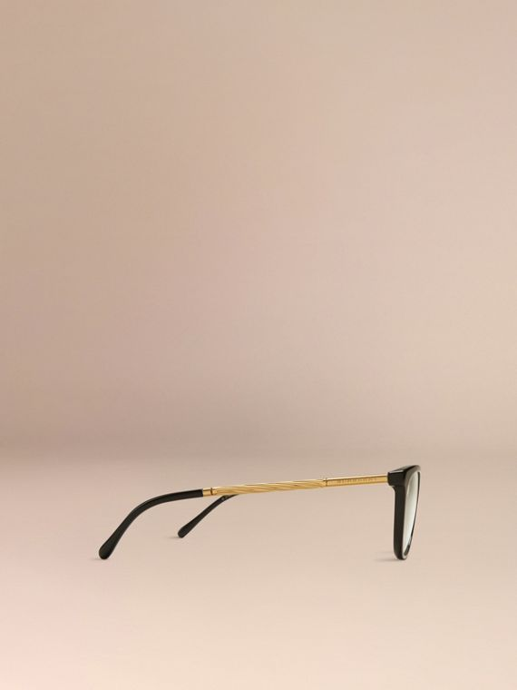 Black Gabardine Collection Cat-Eye Optical Frames Black - cell image 3