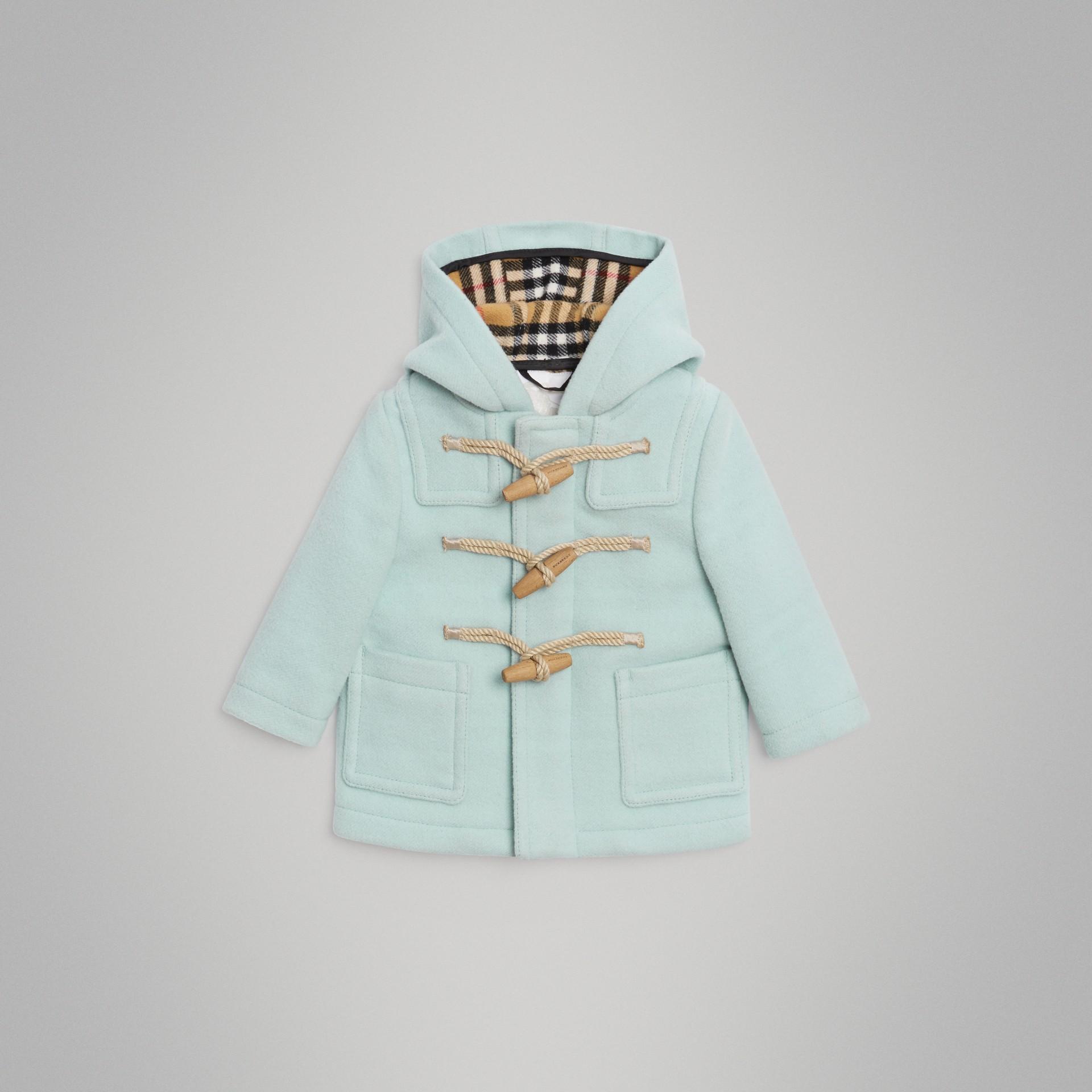 Duffle coat de lã (Menta Claro) | Burberry - galeria de imagens 0