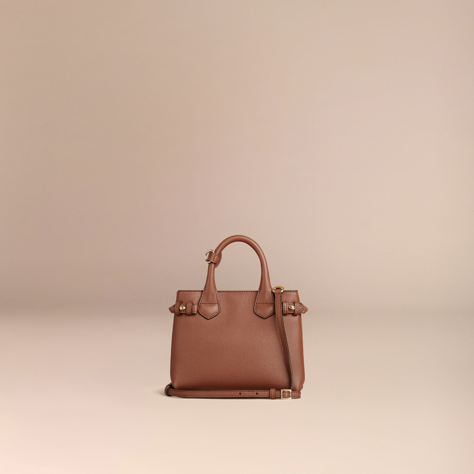 The Baby Banner in Leather and House Check in Tan - Women | Burberry - gallery image 4
